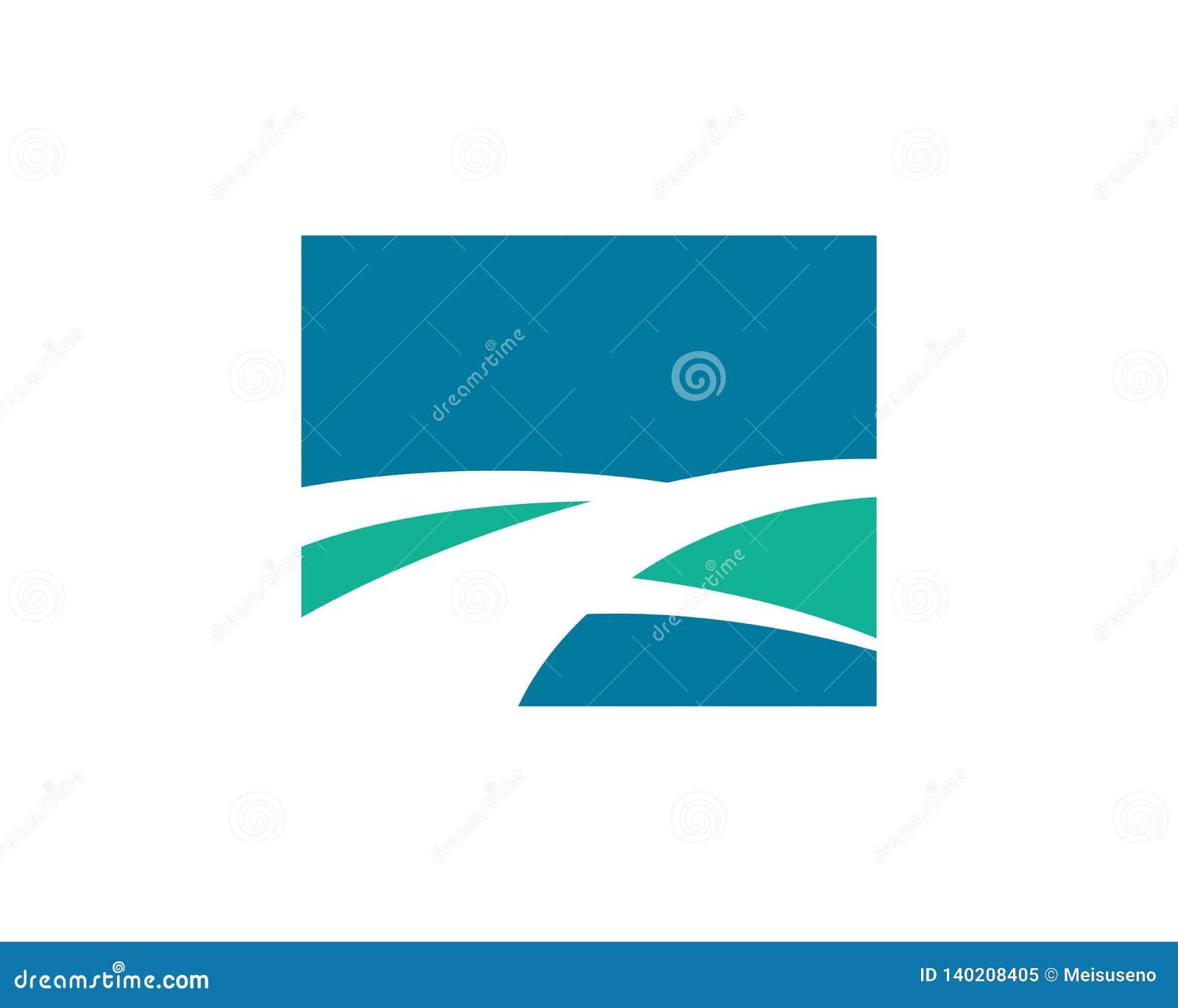 Nature road and landscape logo