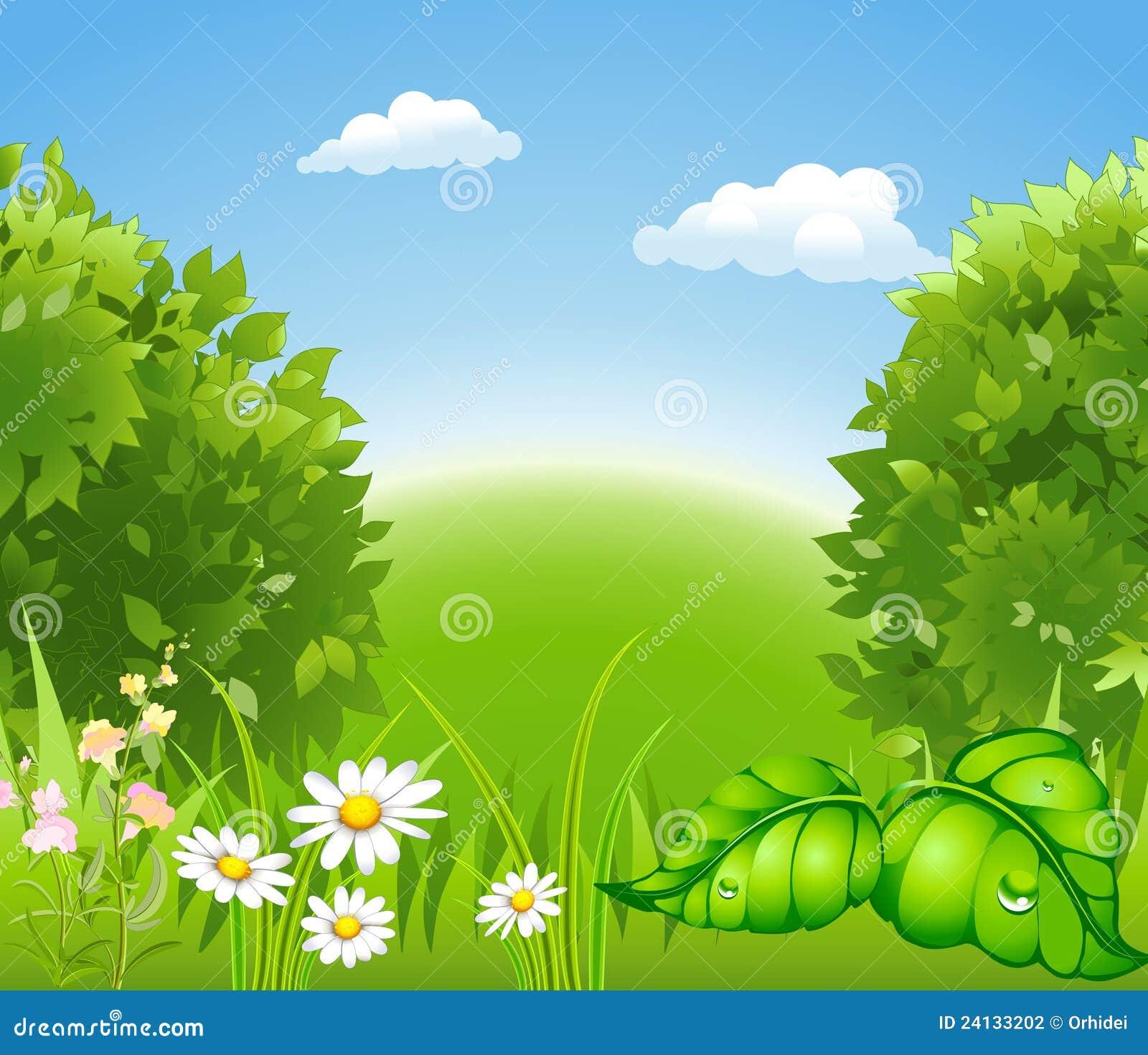 Nature se d veloppante de dessin anim photographie stock - Dessin de nature ...