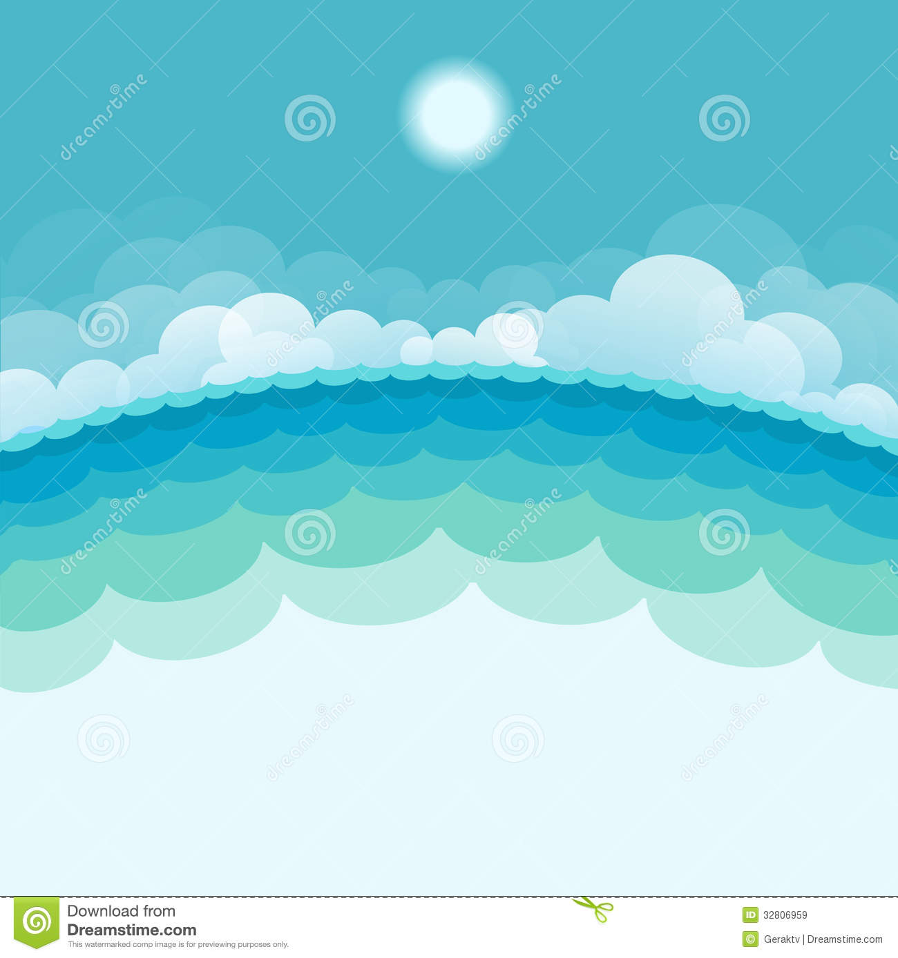 Nature Seascape Background With Sea And Sun Royalty Free