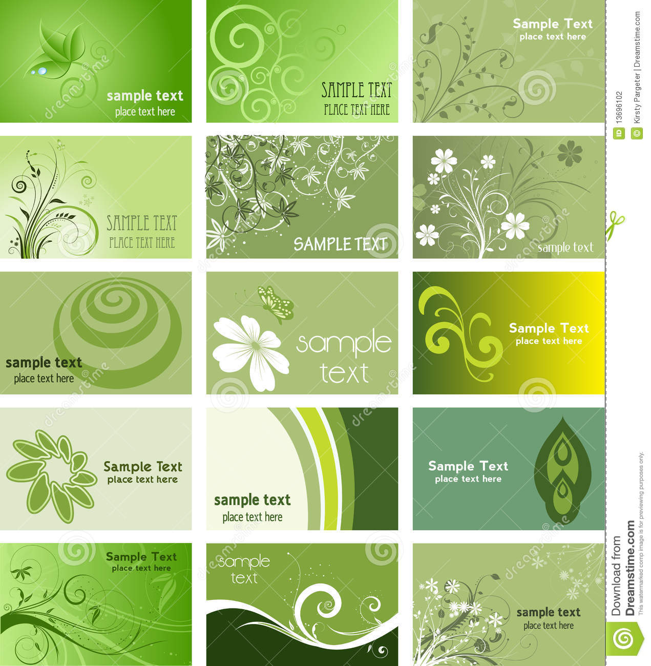 Beach Theme Card Stock: Nature Themed Business Cards Stock Photography