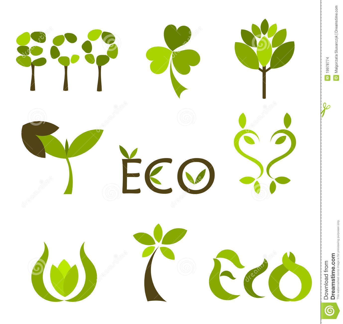 nature vector symbols or logos stock images image 19978774