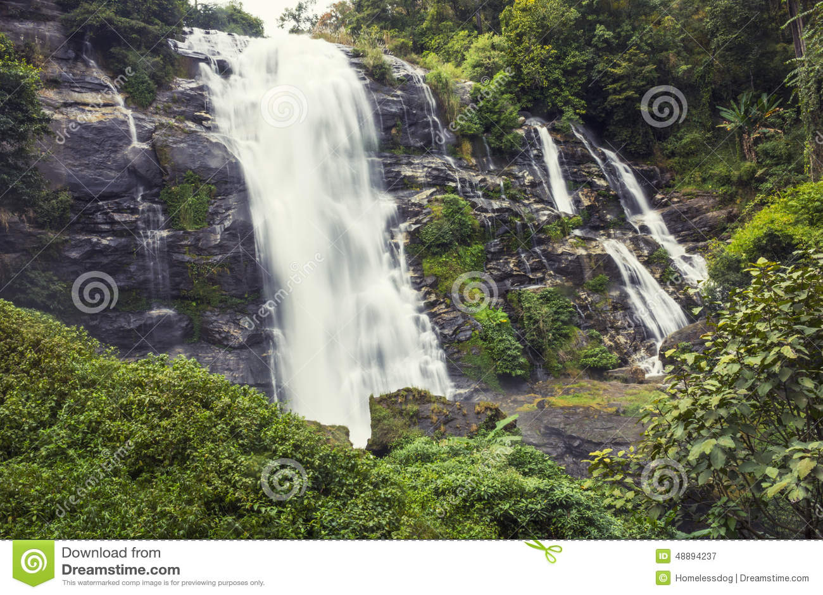 mountains waterfalls forest usa - photo #36