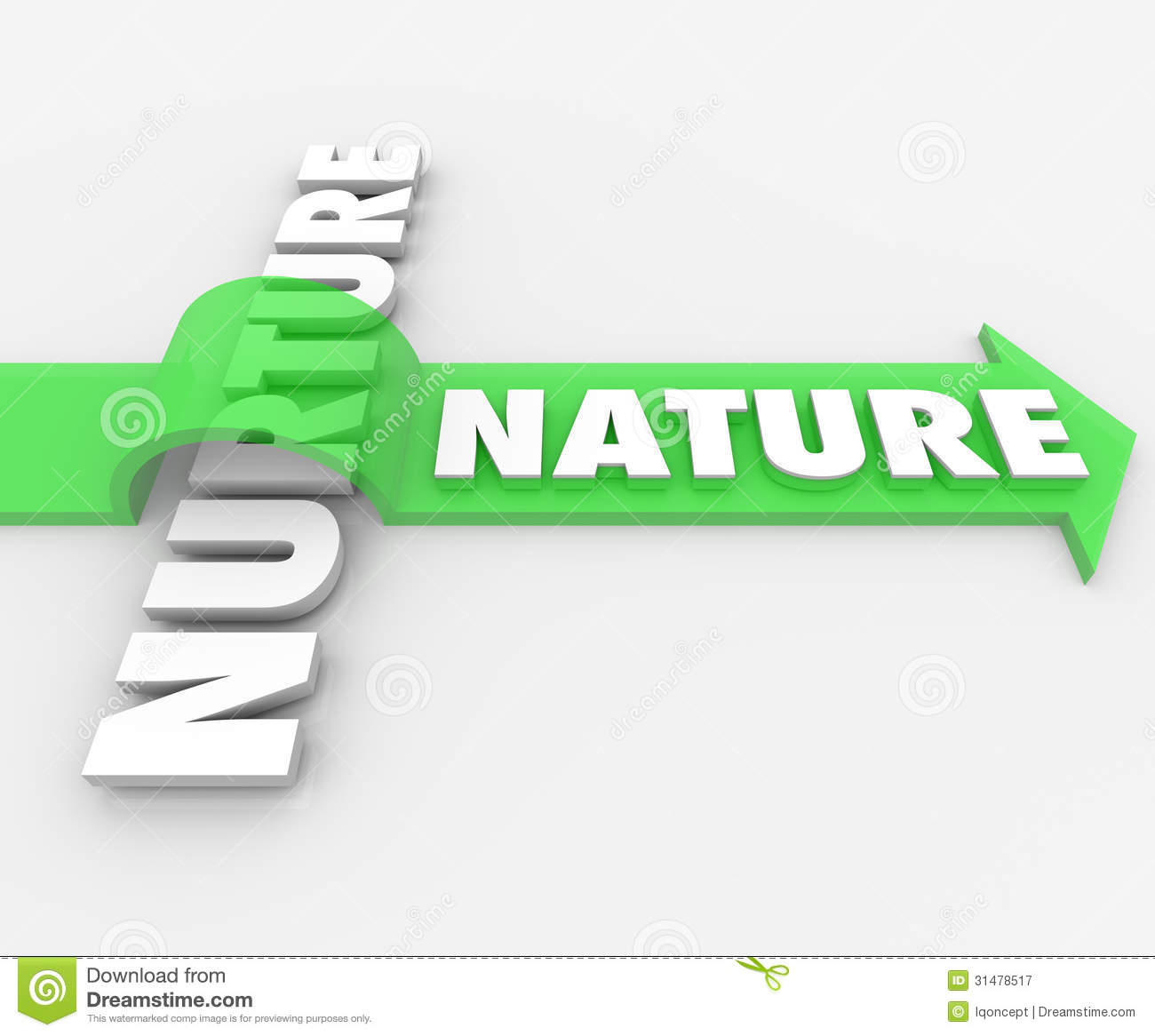Nature word jumping arrow over nurture genetics hereditary stock illustration illustration of - Nurture images download ...