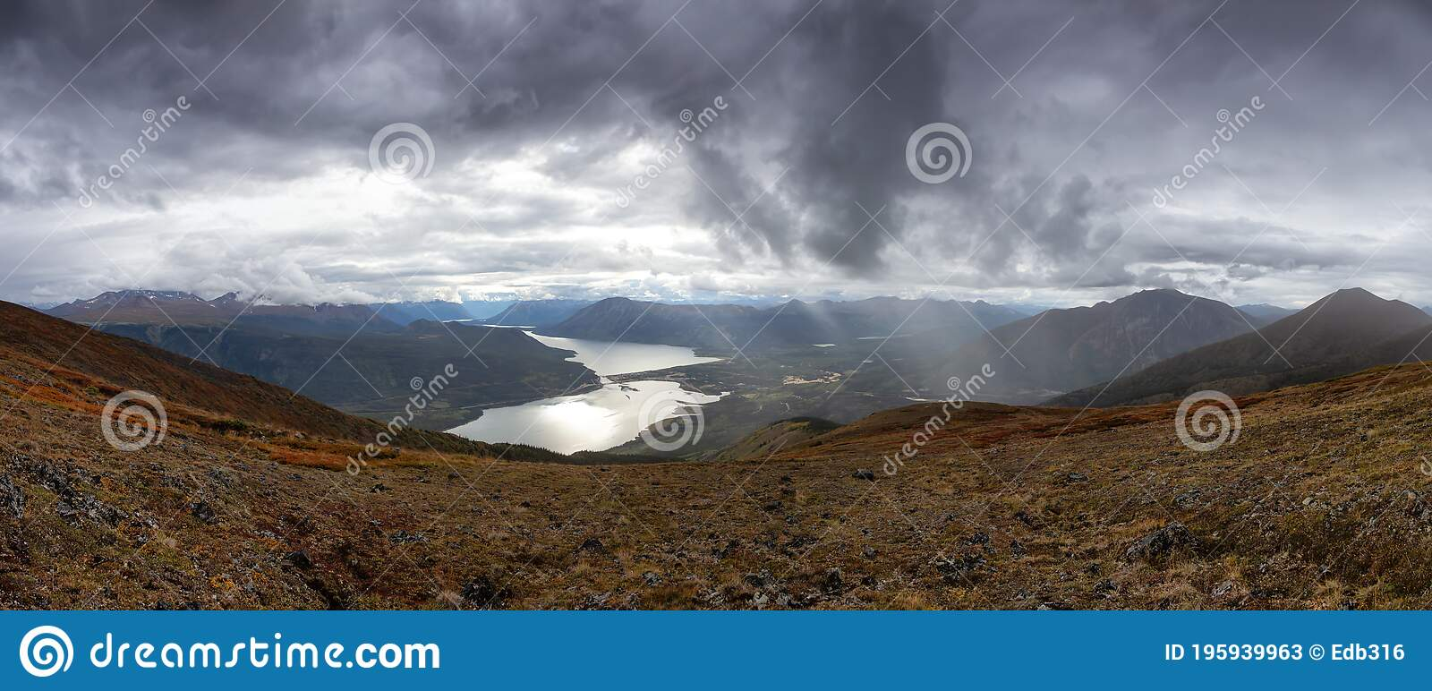 Nature In Yukon Canada Stock Image Image Of Clouds 195939963