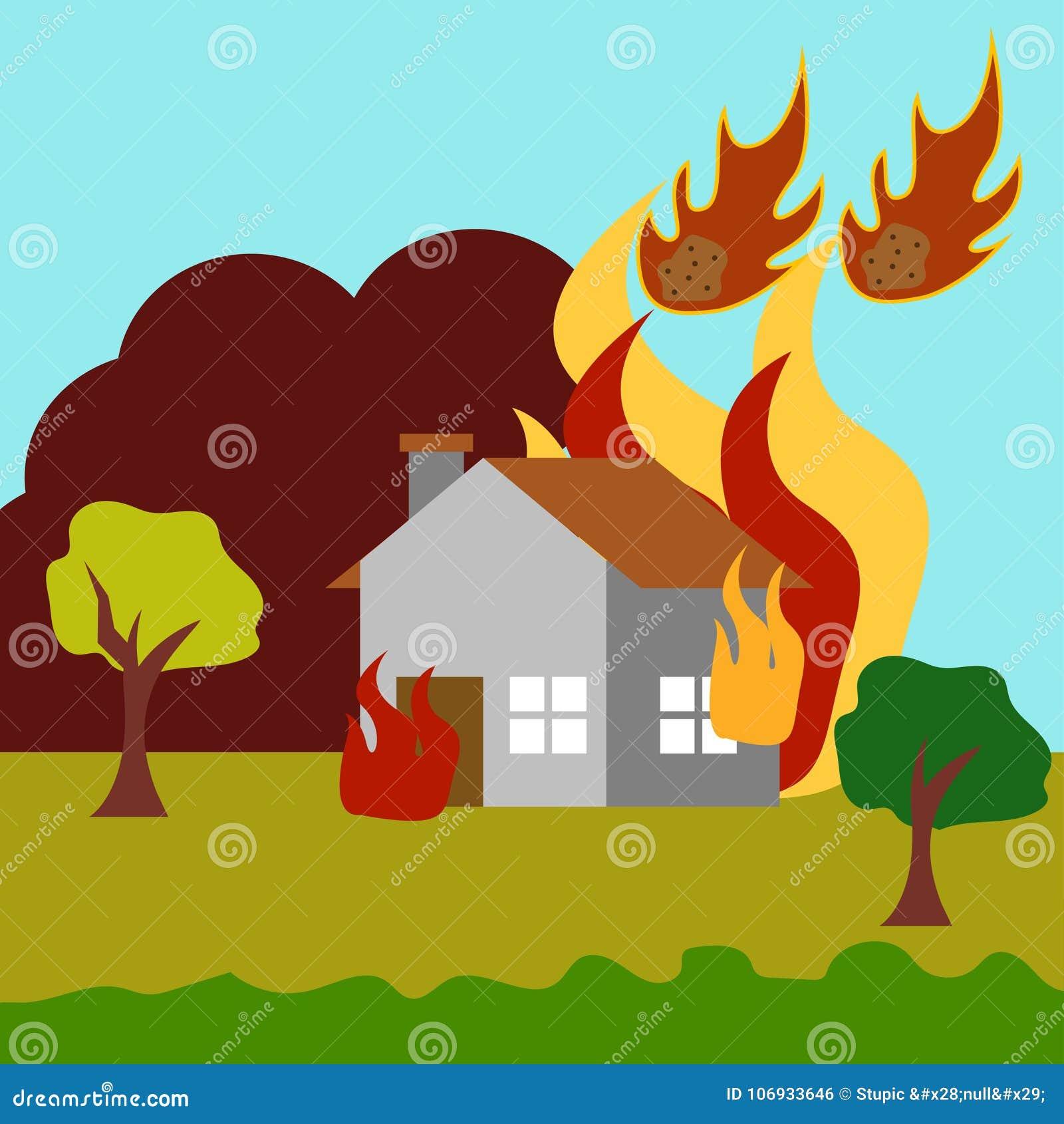 Naturkatastrophe-Illustrations-Vektor Art Logo Template