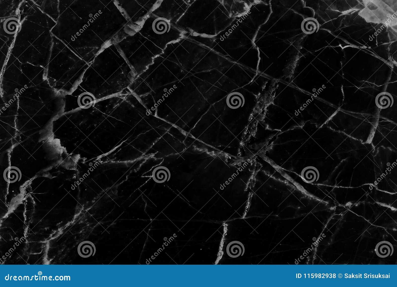Naturlig bakgrund för svart marmormodelltextur