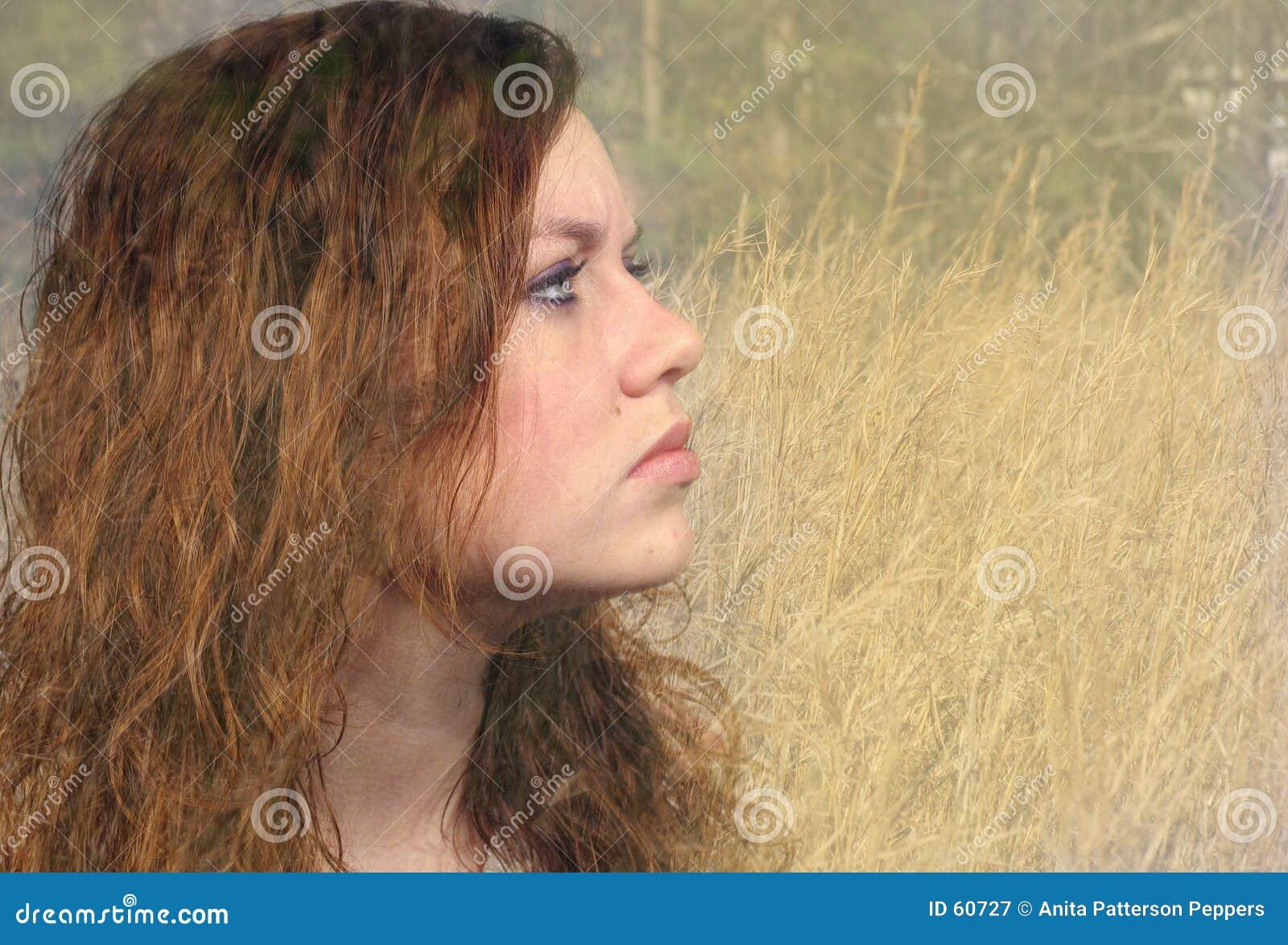 Naturlig flicka