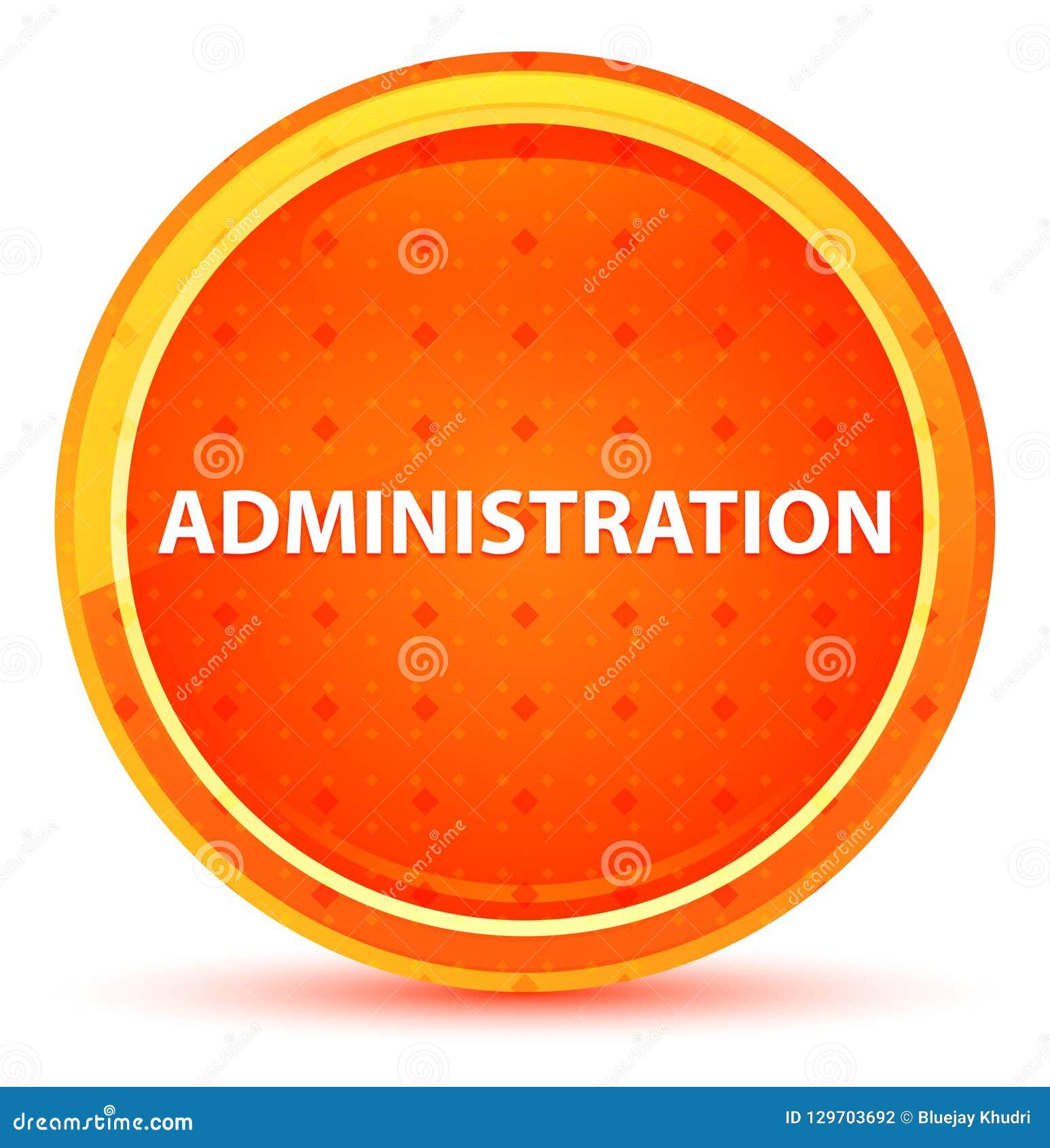 Naturlig orange rund knapp för administration