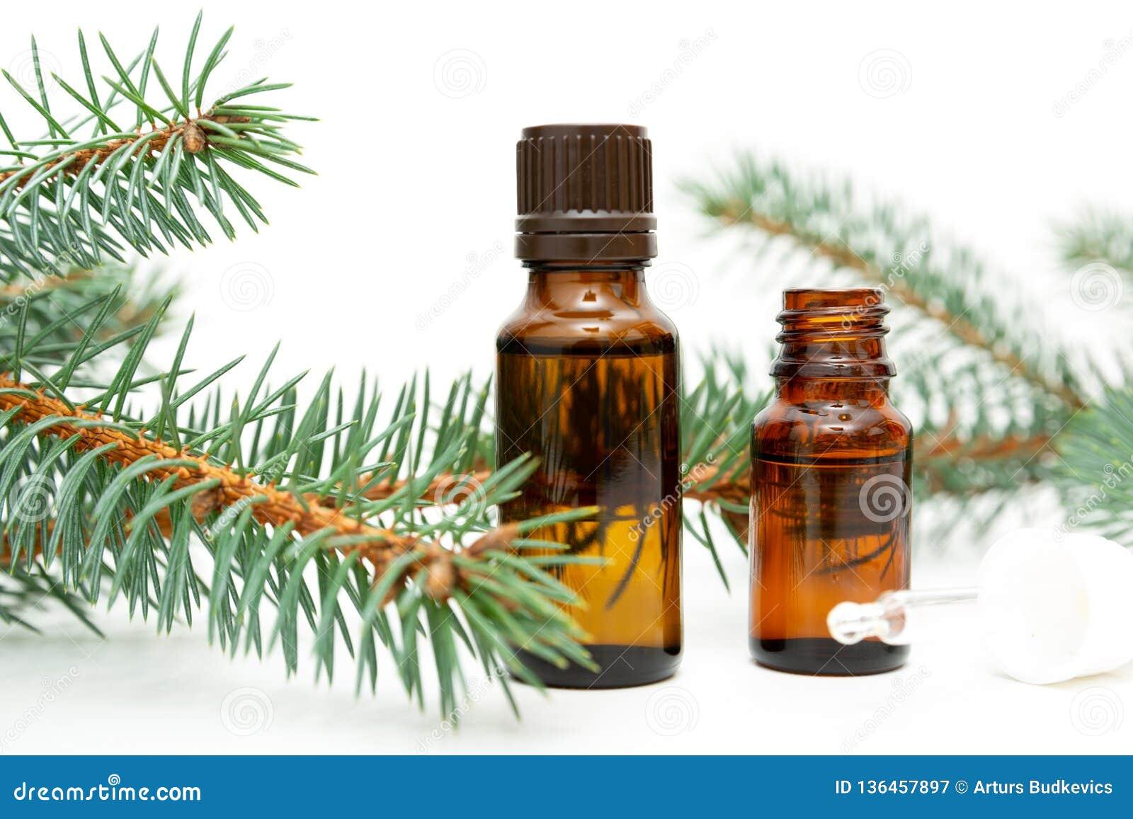 Naturlig skönhetbot Den lilla flaskan av nödvändigt sörjer olja, sörjer trädris, alternativ medicin