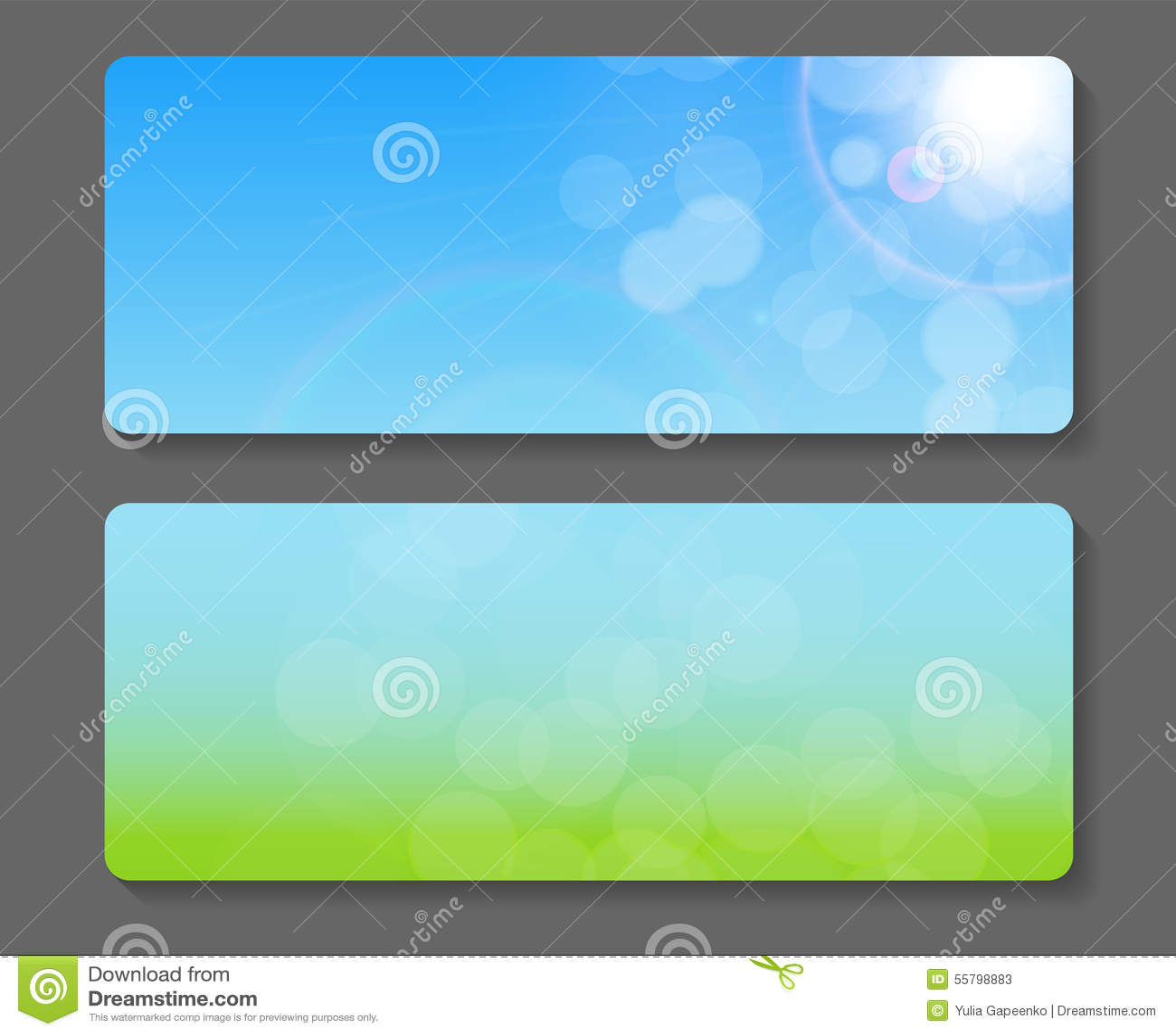 Naturliga Sunny Backgroundc Banner Vector