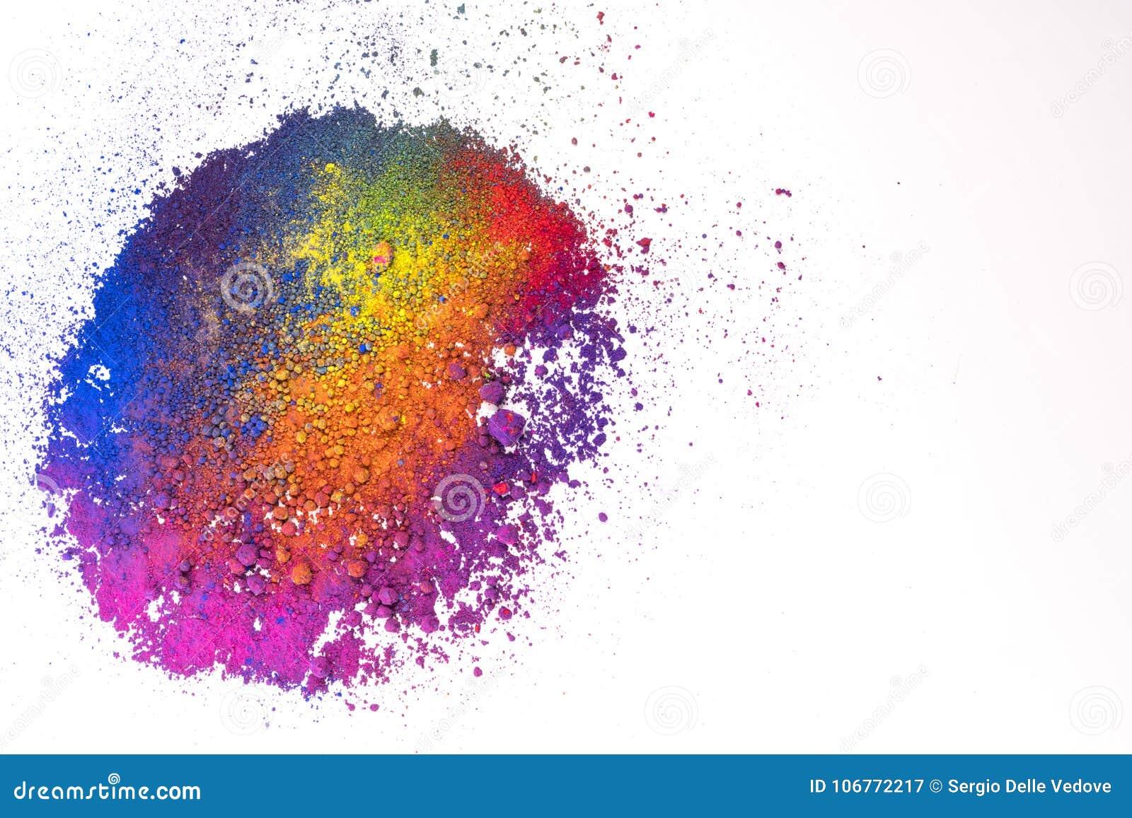Naturligt mång- kulört pigmentpulver