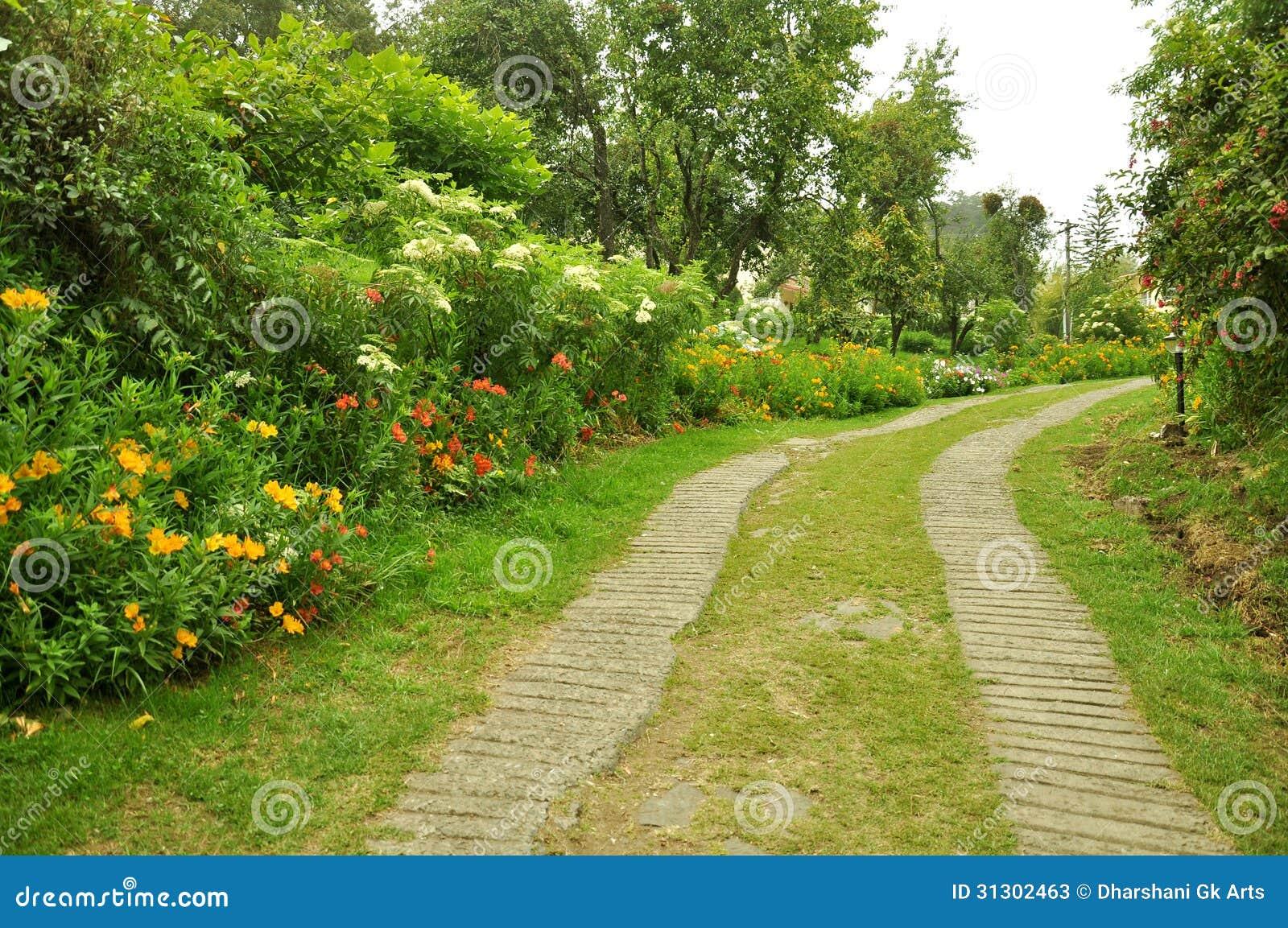 Natury ścieżka z ogródem