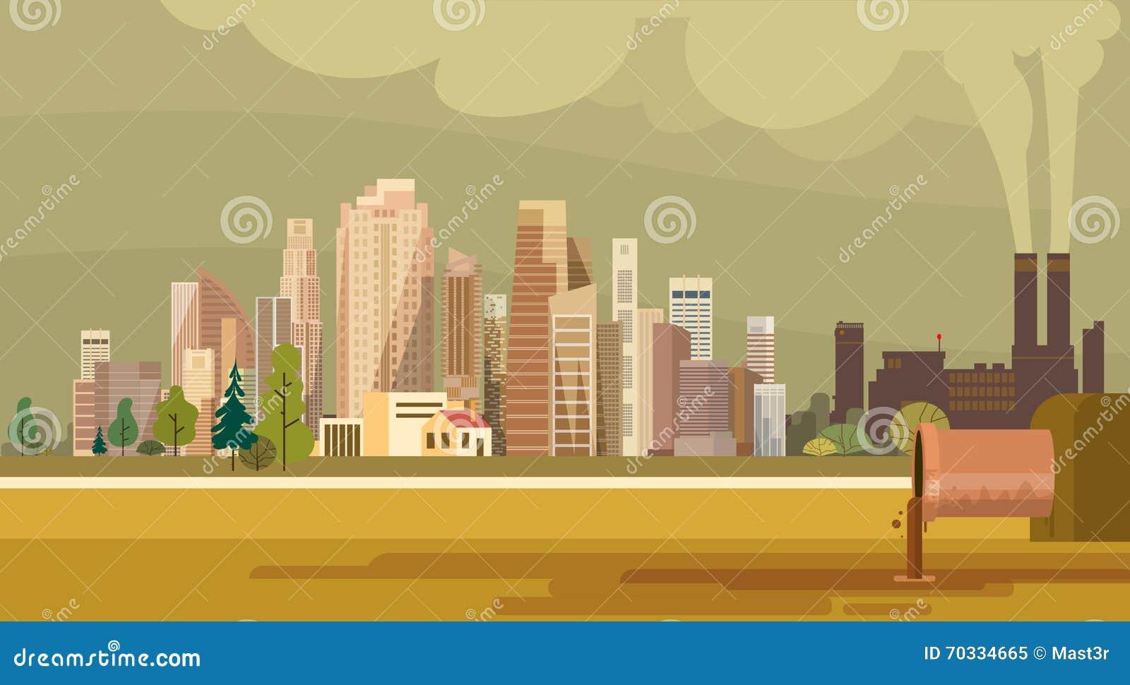 Natury zanieczyszczenia miasta rośliny drymby Brudny ścieki Zanieczyszczający środowisko