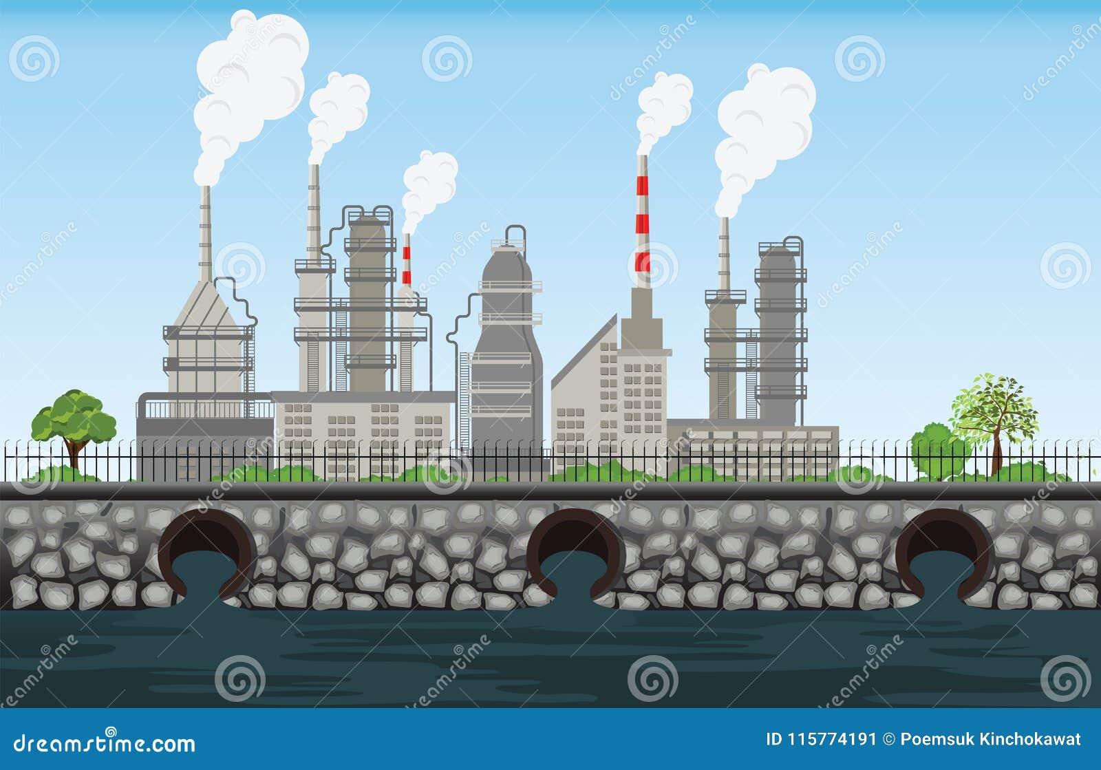 Natury zanieczyszczenia rośliny drymby odpady brudny powietrze i woda zanieczyszczaliśmy e
