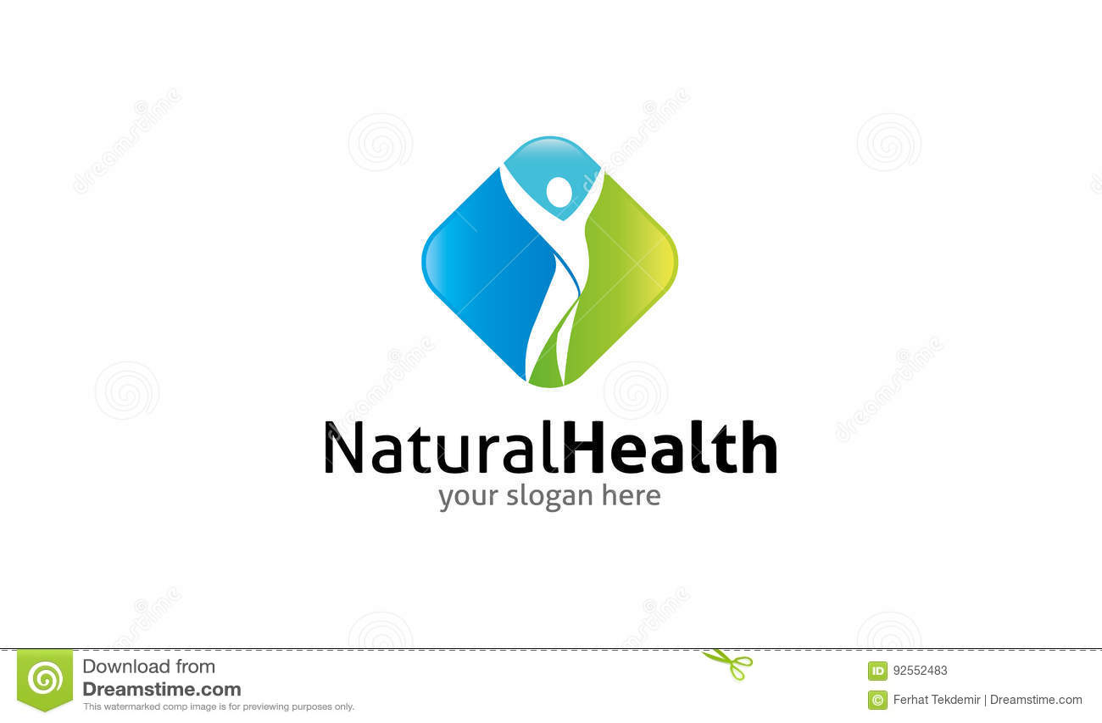Natuurlijk gezondheidsembleem