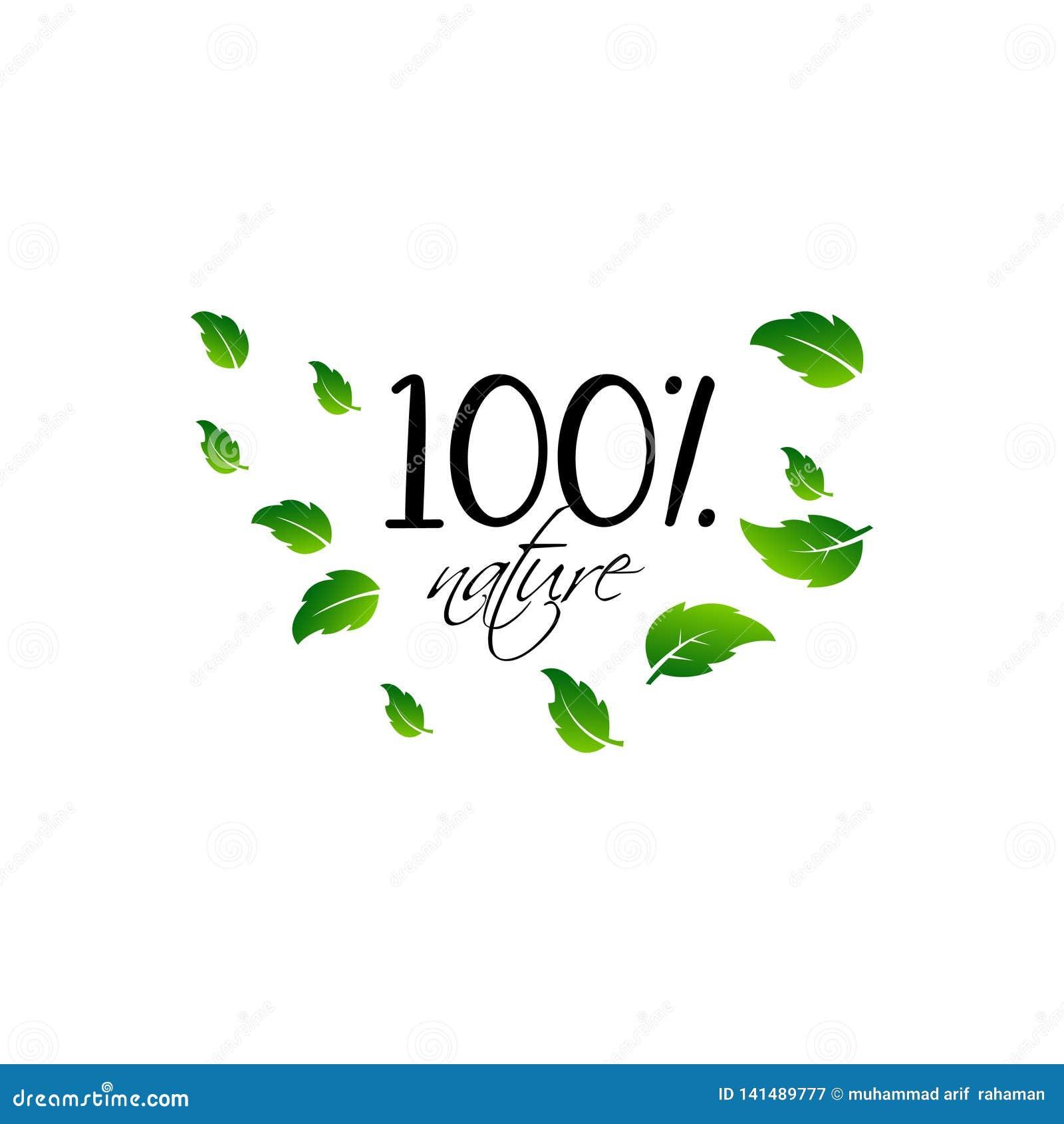 Natuurlijk product 100 bio gezond organisch etiket en hoog - de kentekens van het kwaliteitsproduct