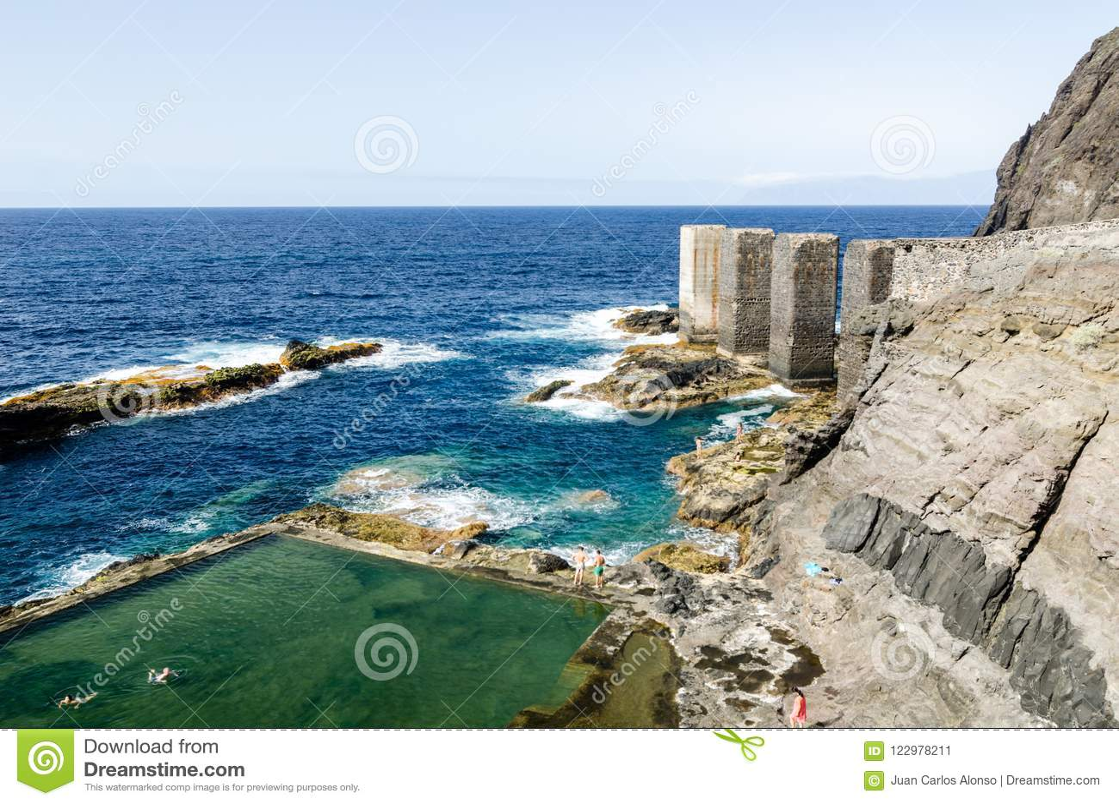 Natuurlijke pool in La Gomera, Canarische Eilanden
