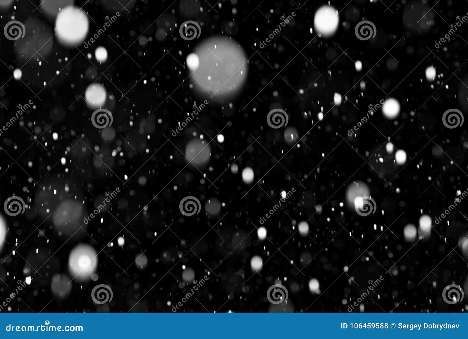 Natuurlijke textuur van dalende sneeuw