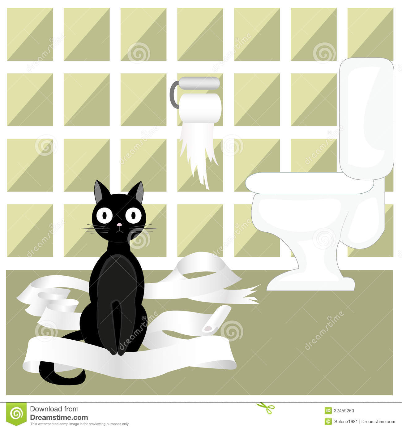 Naughty Cat Stock Vector Illustration Of Tattered Pretty