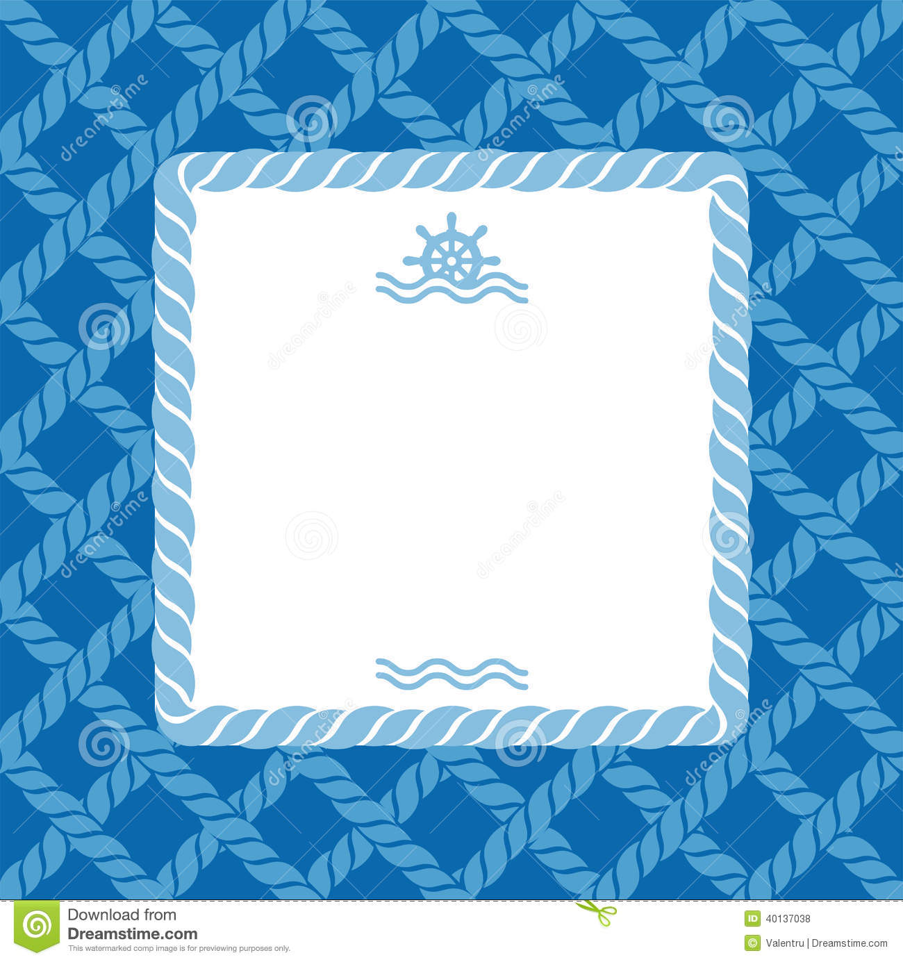 Nautical Background With Rope Stock Vector - Image: 40137038