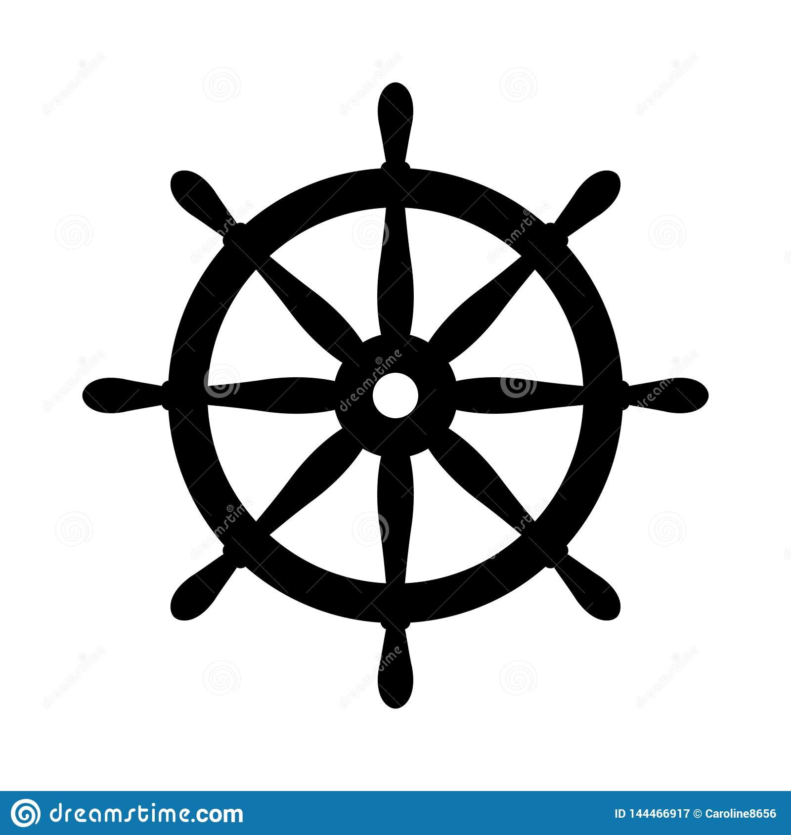Nautical Black Helm Isolated On White Ship And Boat Steering Wheel Sign Boat Wheel Control Icon Rudder Label Stock Illustration Illustration Of Black Ship 144466917
