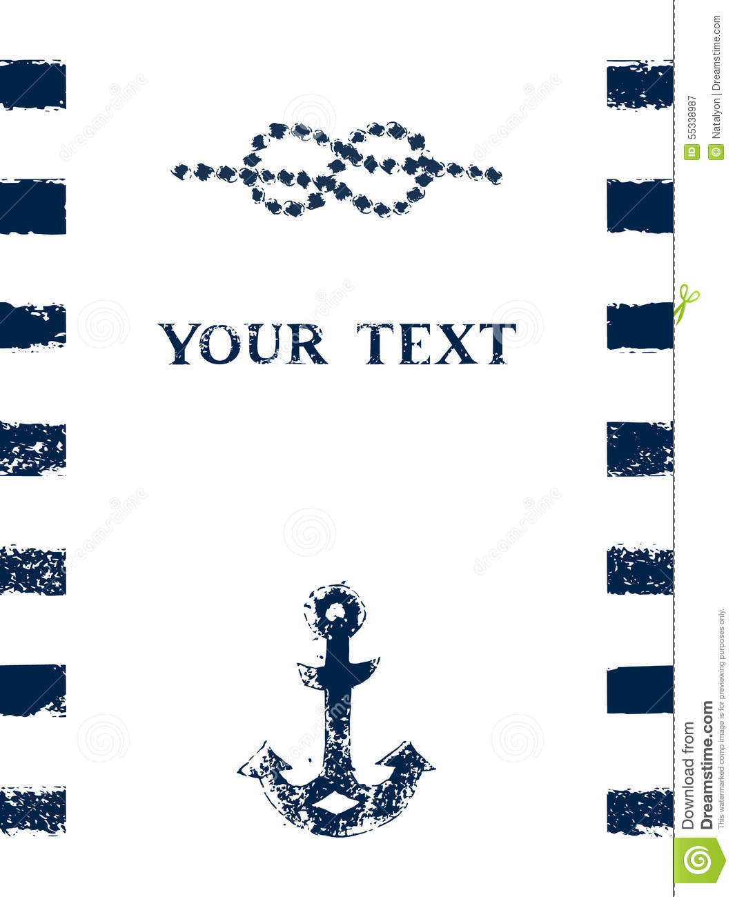 Nautical blue and whte grunge frame with stripes marine knot and nautical blue and whte grunge frame with stripes marine knot and anchor vector pronofoot35fo Image collections