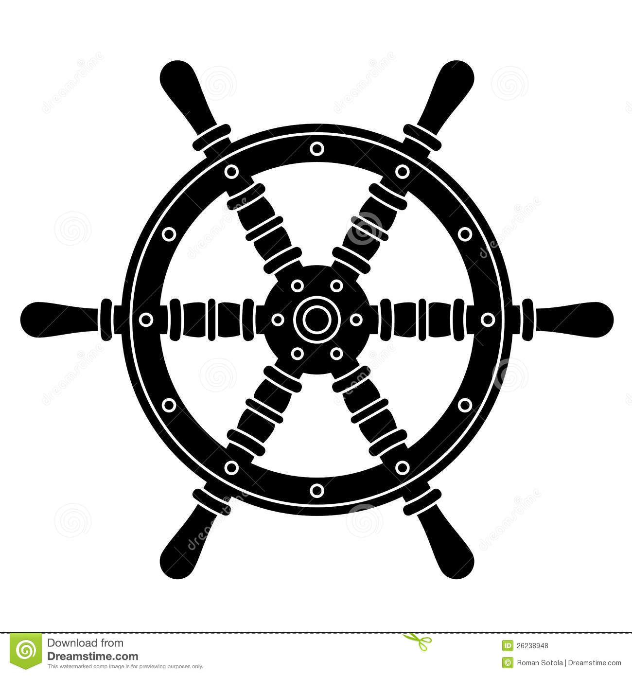 Nautical Boat Steering Wheel Silhouette Royalty Free Stock Photos ...