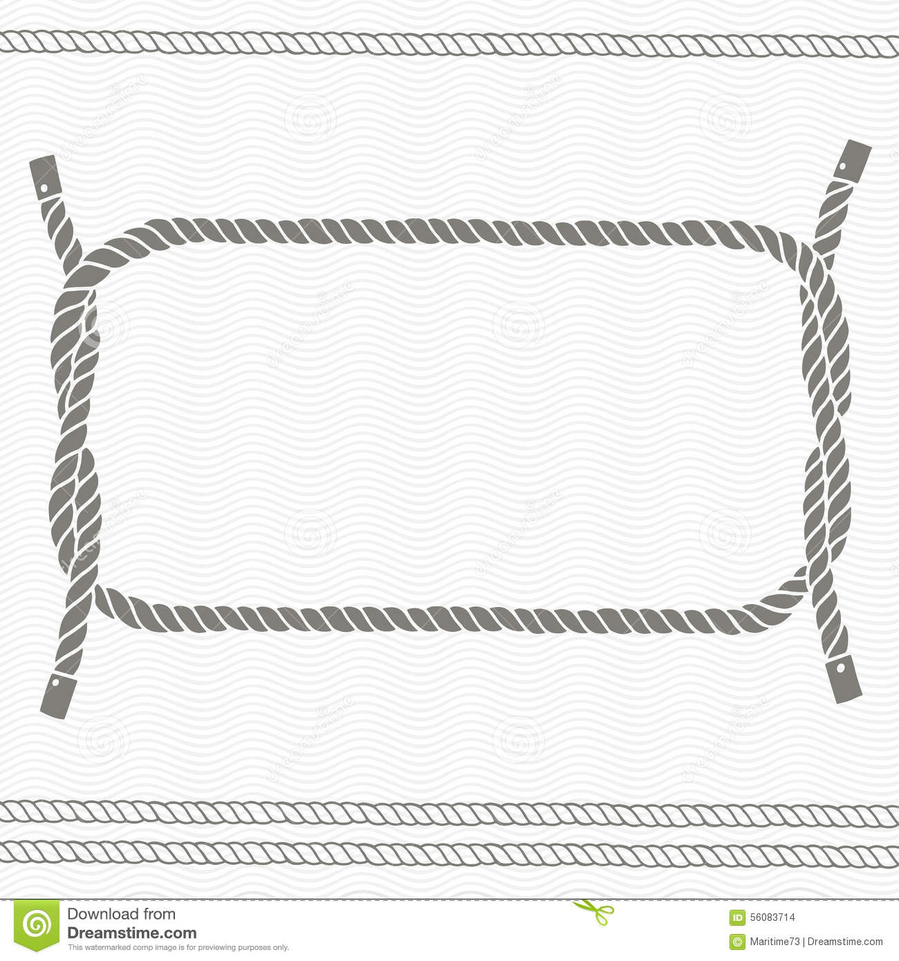 nautical card with frame and ropes - Nautical Picture Frame