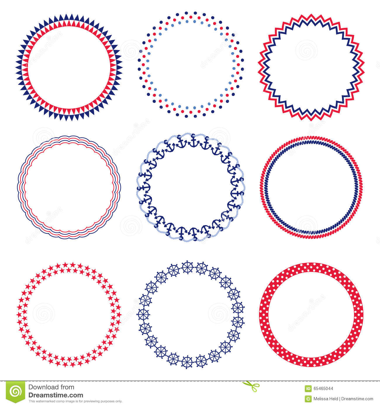 nautical circle frames - Nautical Frames