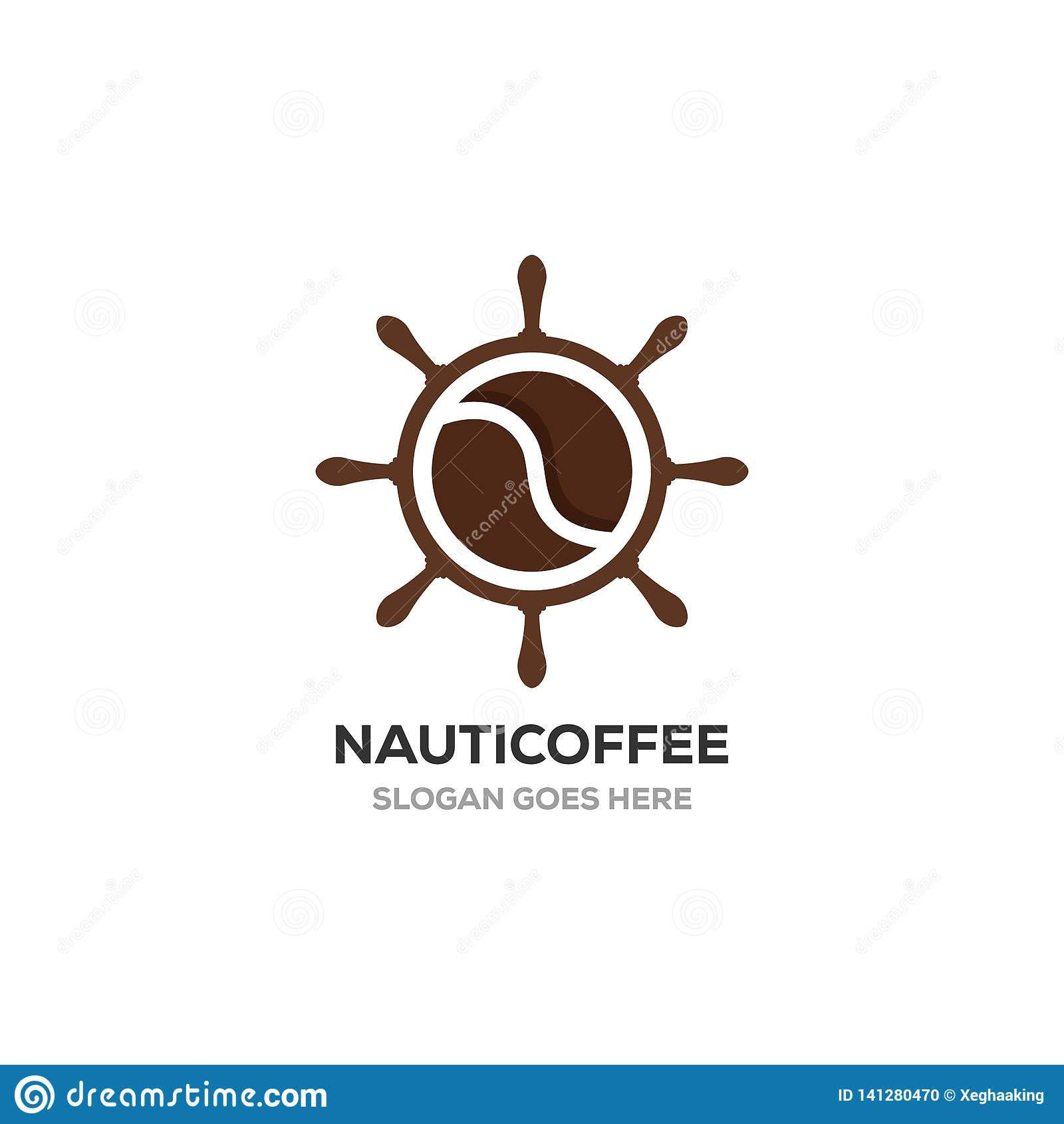 Nautical with coffee logo designs inspirations