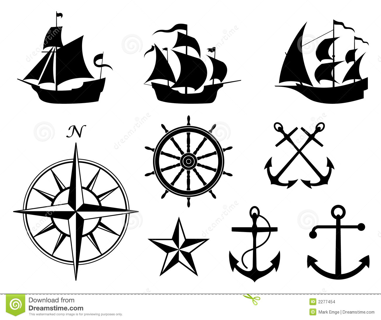 Old Nautical Symbols And Meanings Sh