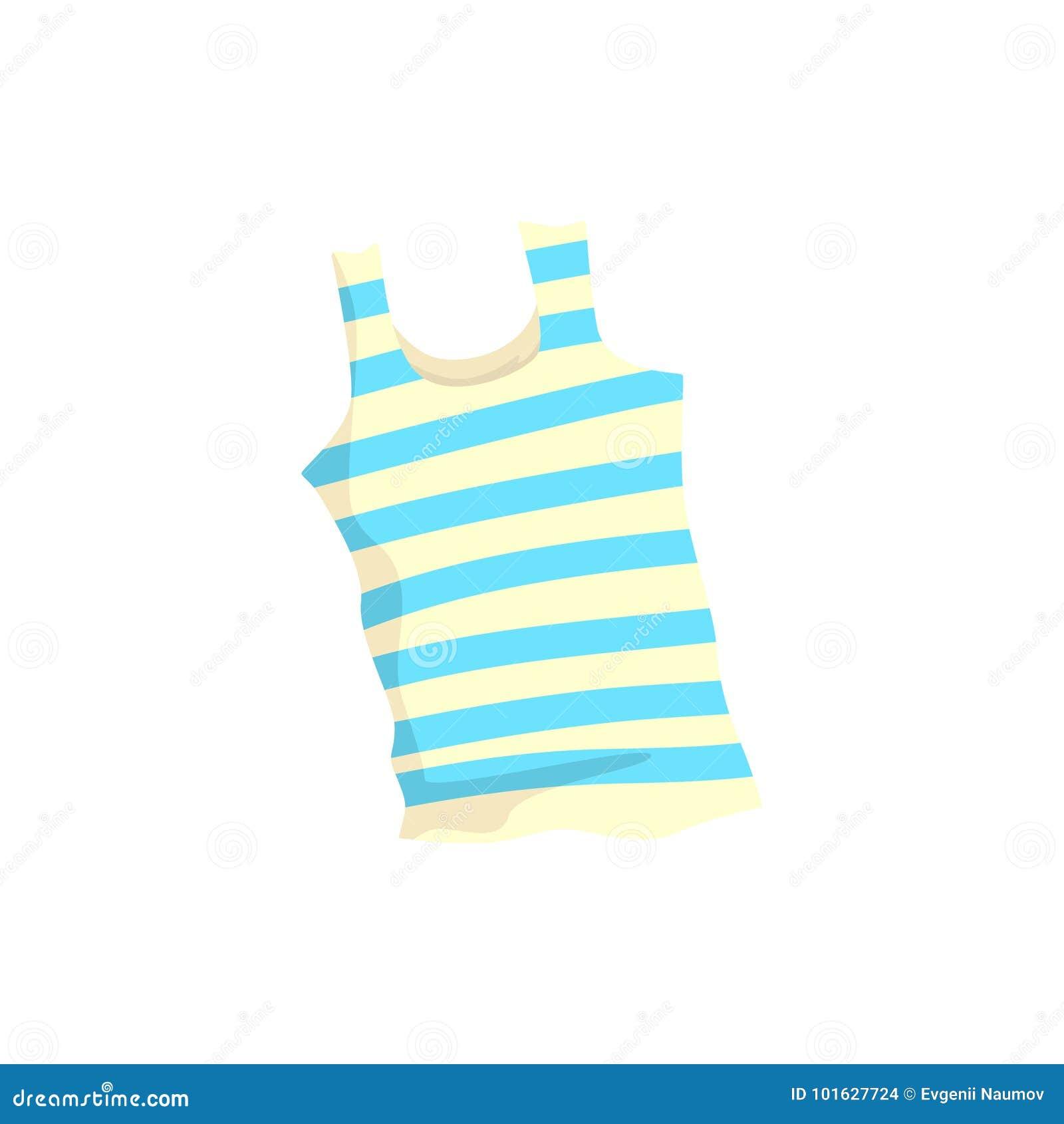 Nautical frock or singlet cartoon vector Illustration