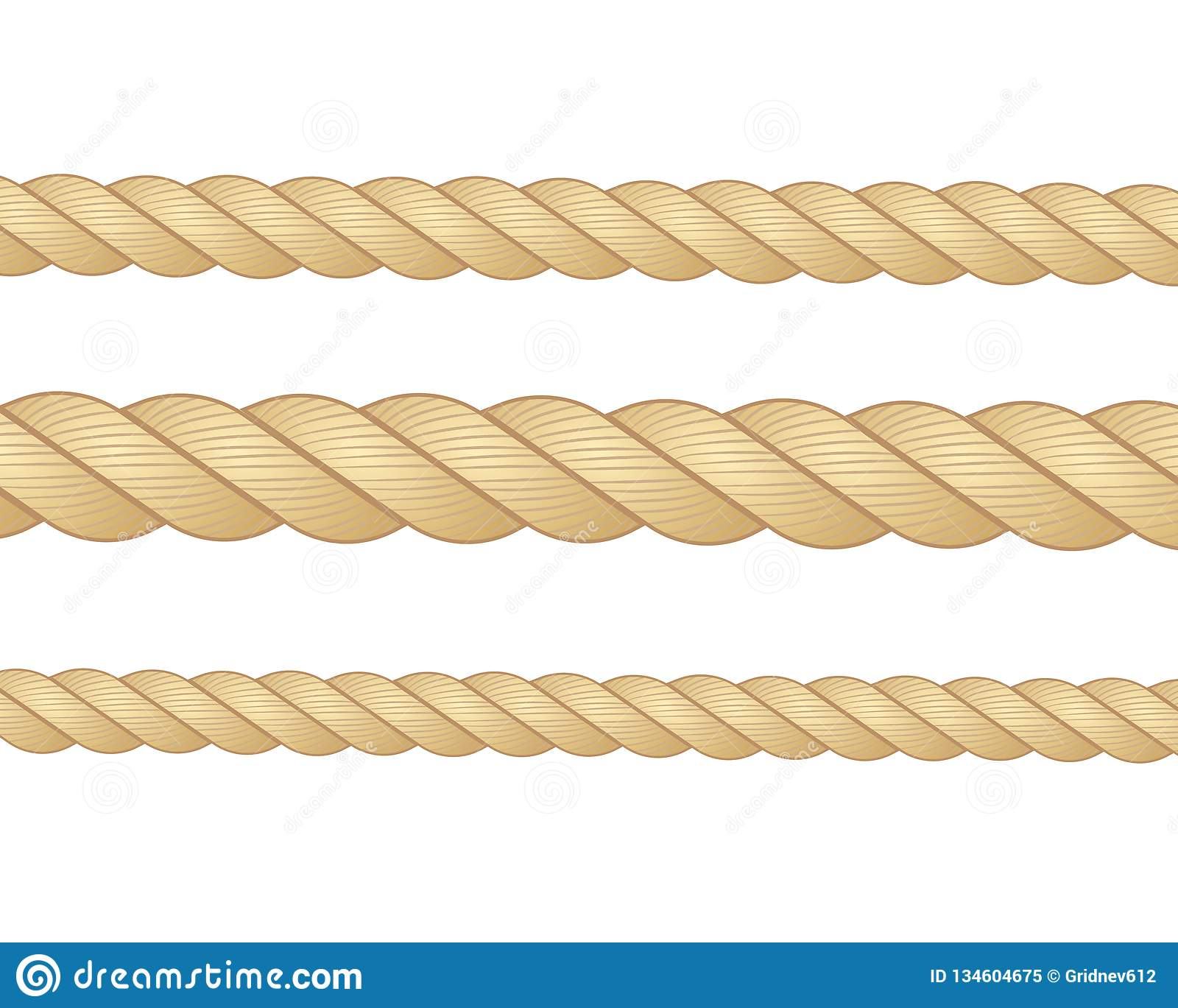 Nautical Rope  Round And Square Rope Frames, Cord Borders