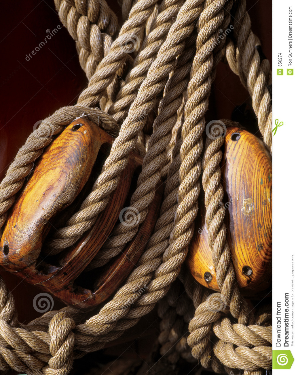 nautical ropes and pulleys stock photo  image of line  boat