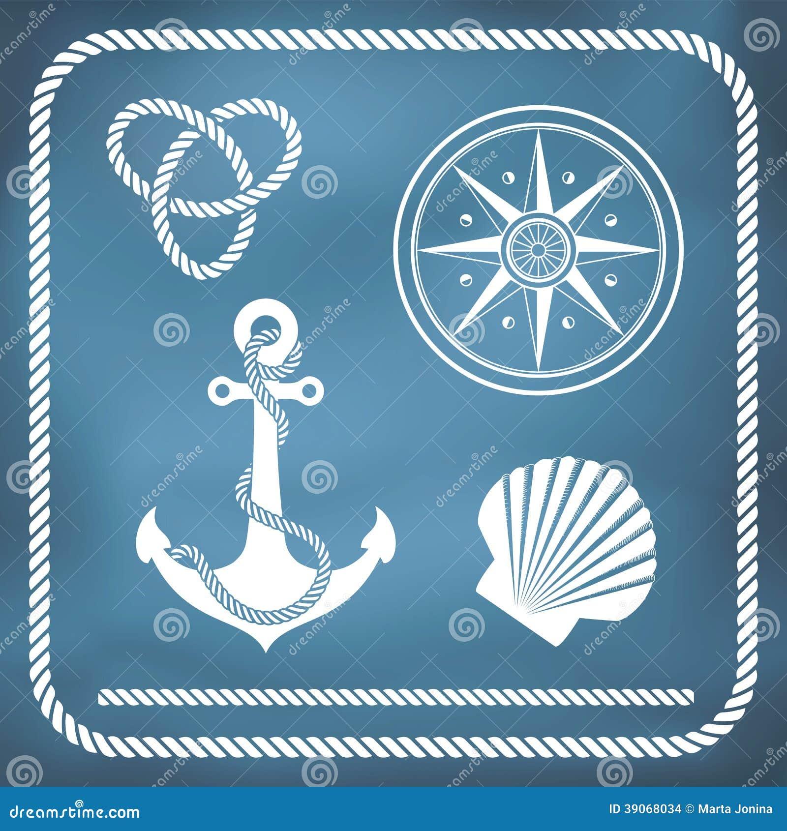 Nautical Symbols And Meanings Nautical Symbols Stock...
