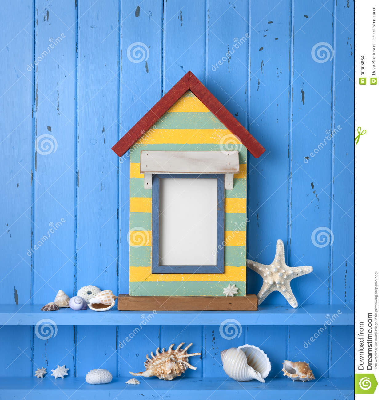 Seaside Picture Frame Background Stock Images Image