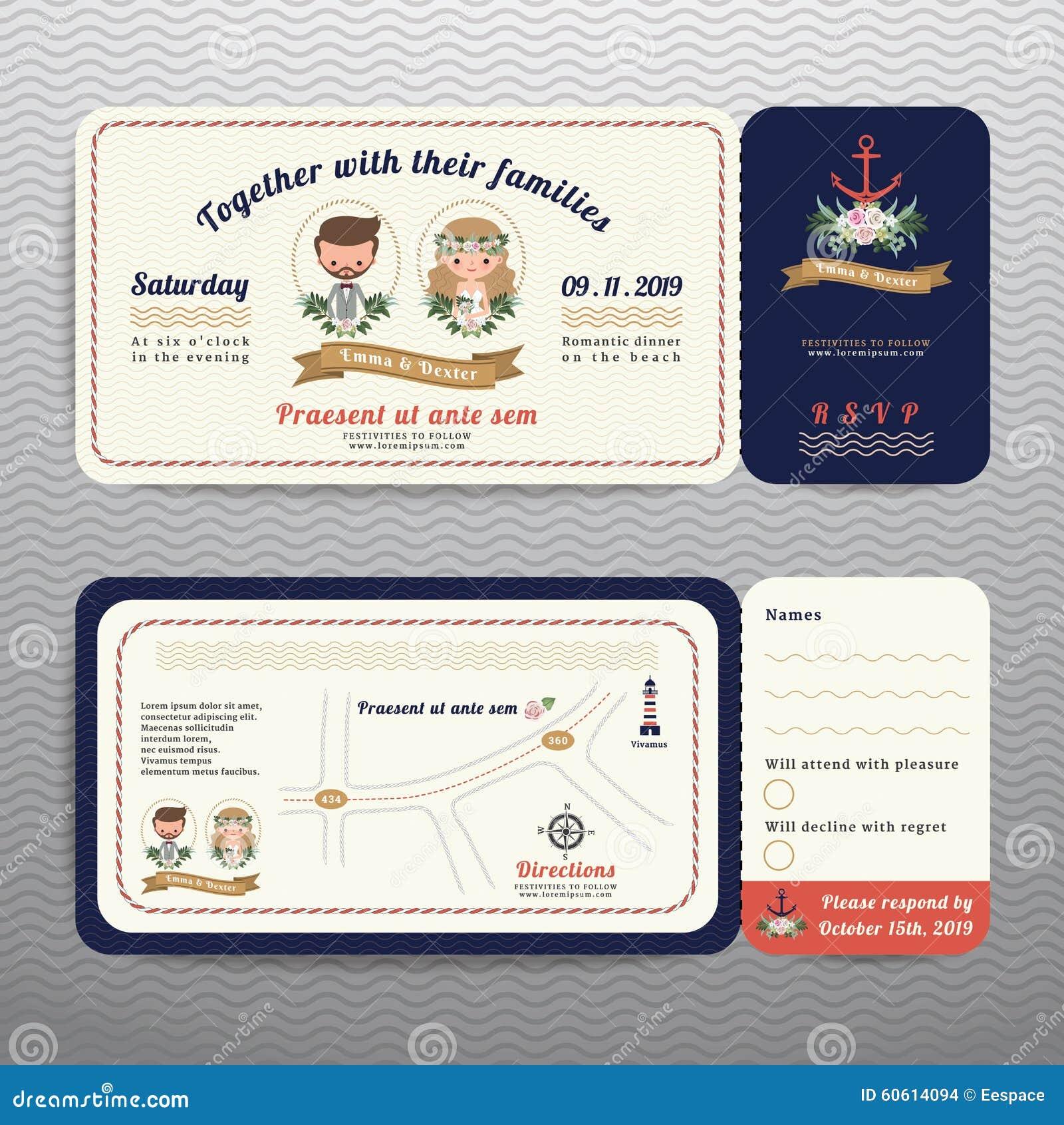 ticket wedding invitation - Yelom.myphonecompany.co