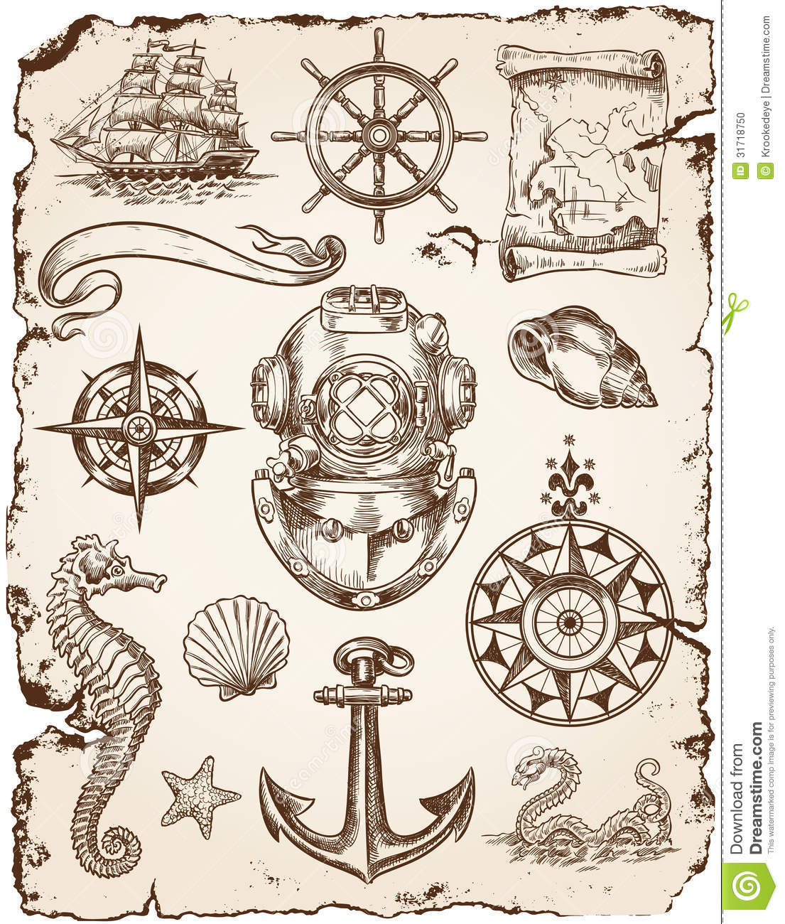 More similar stock images of ` Nautical Vector Illustration Set `