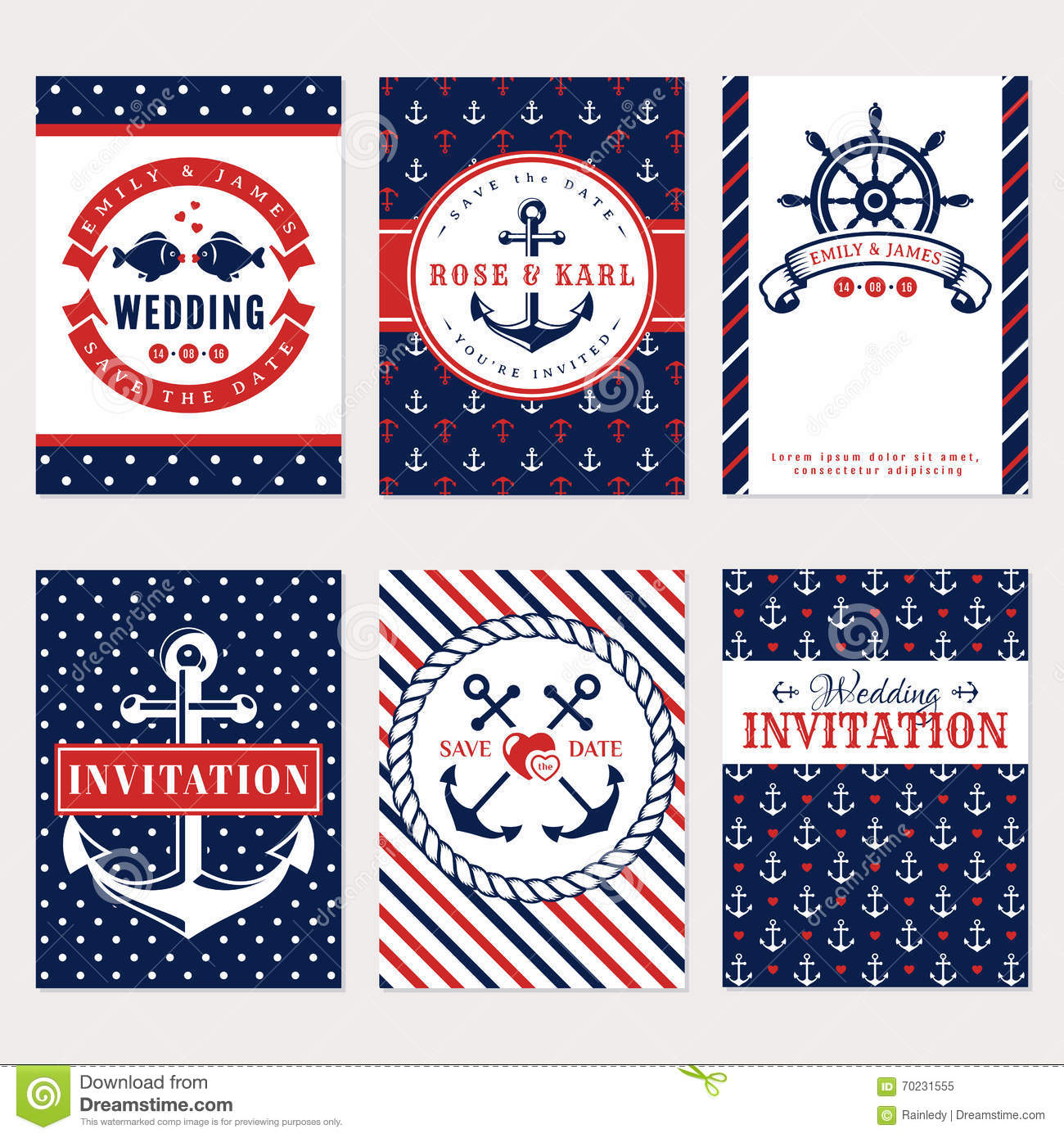 Anchor Wedding Invitations for great invitation sample