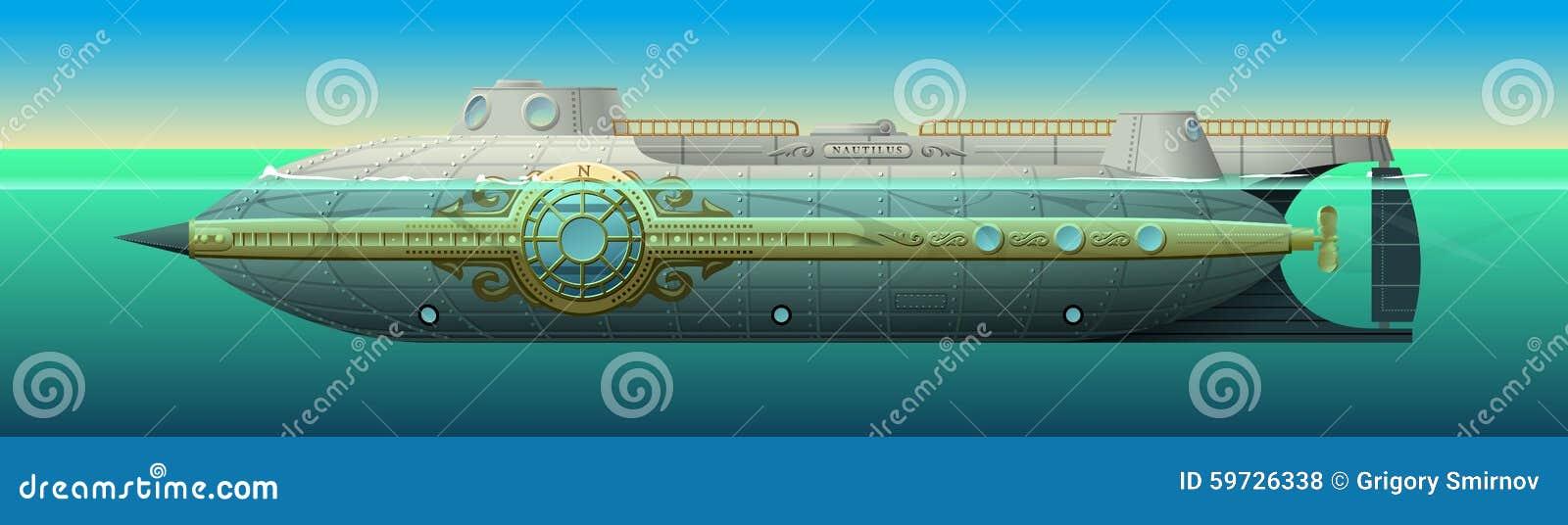 nautilus submarine of captain nemo stock illustration stats clip art state clipart images