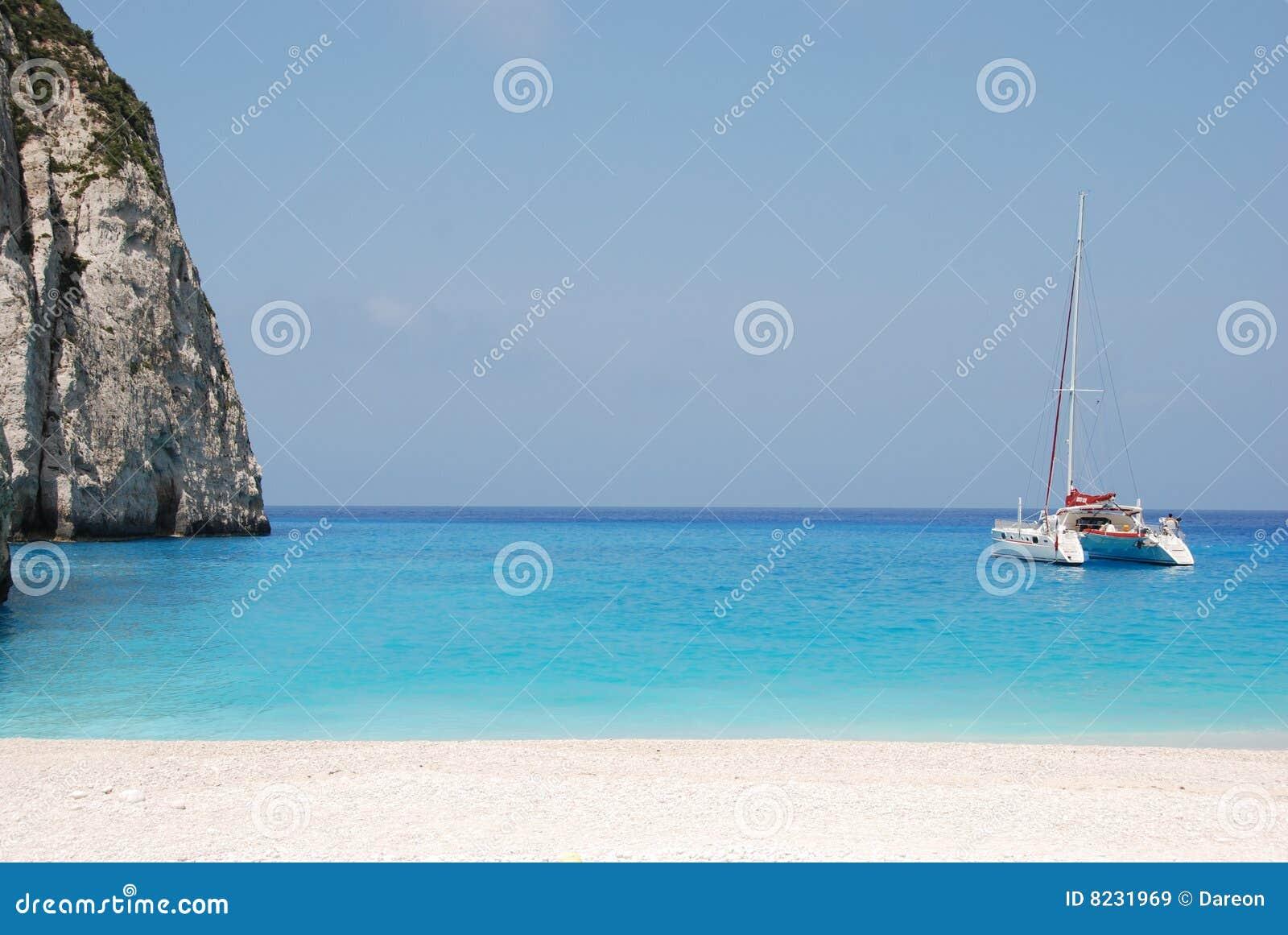Navagio - Zakynthos island blue sea beach greece