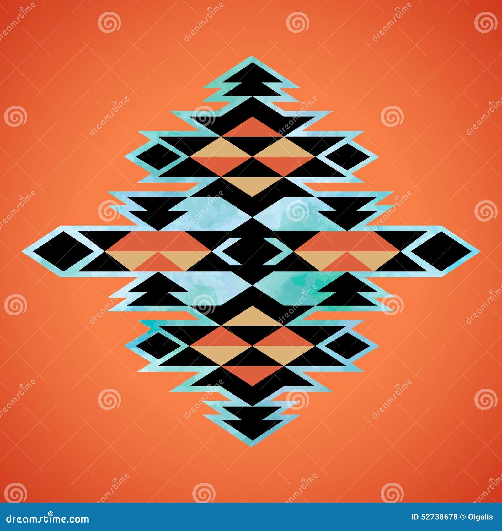 Navajo Aztec Textile Inspiration Pattern. Native American ...