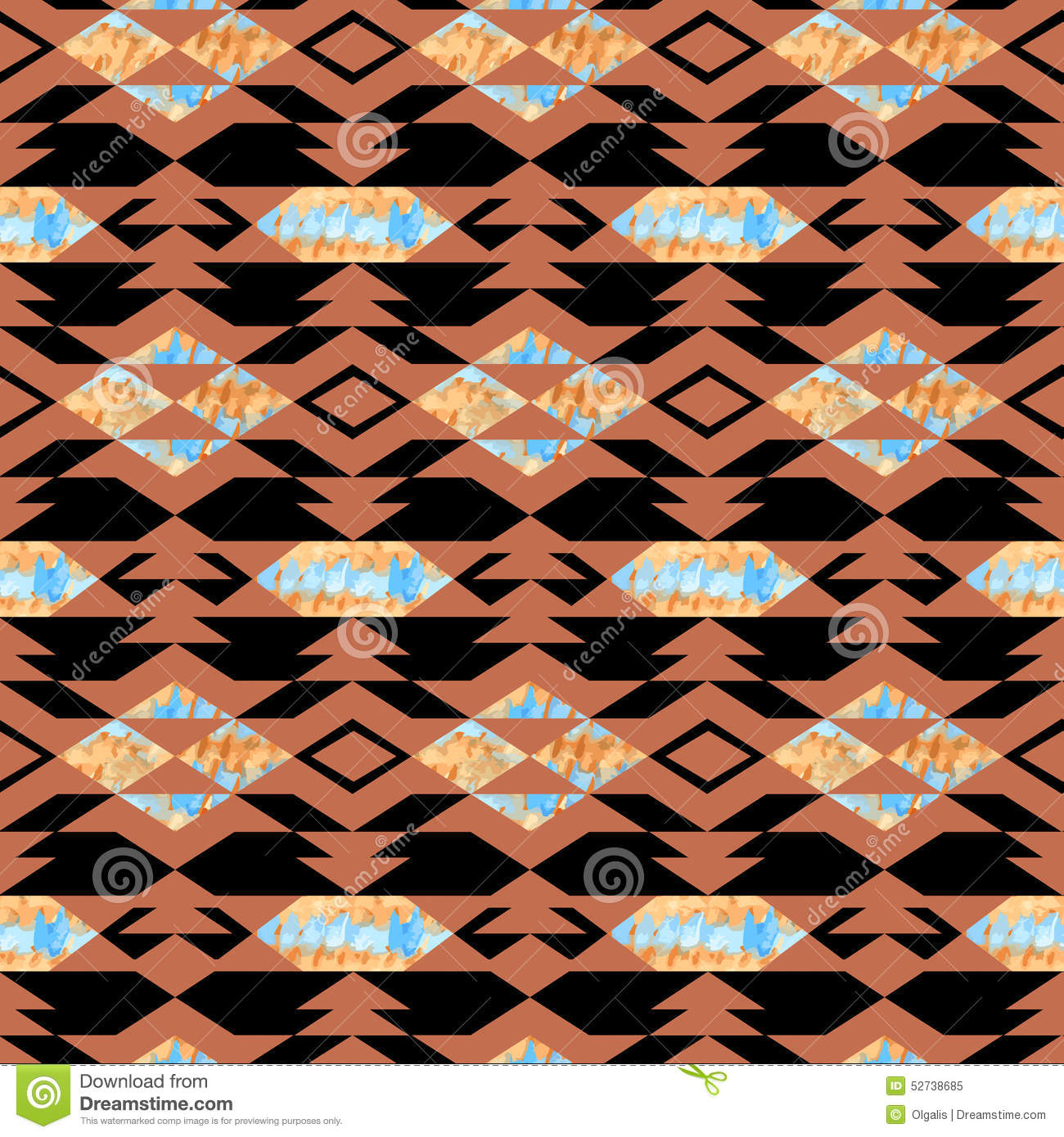 Navajo Aztec Textile Inspiration Pattern. Native American Indian Stock ...