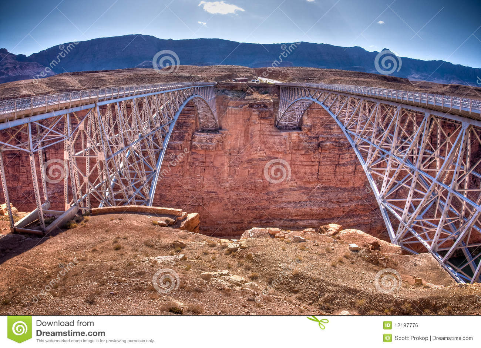 Navajo Bridge Over The Grand Canyon Royalty Free Stock