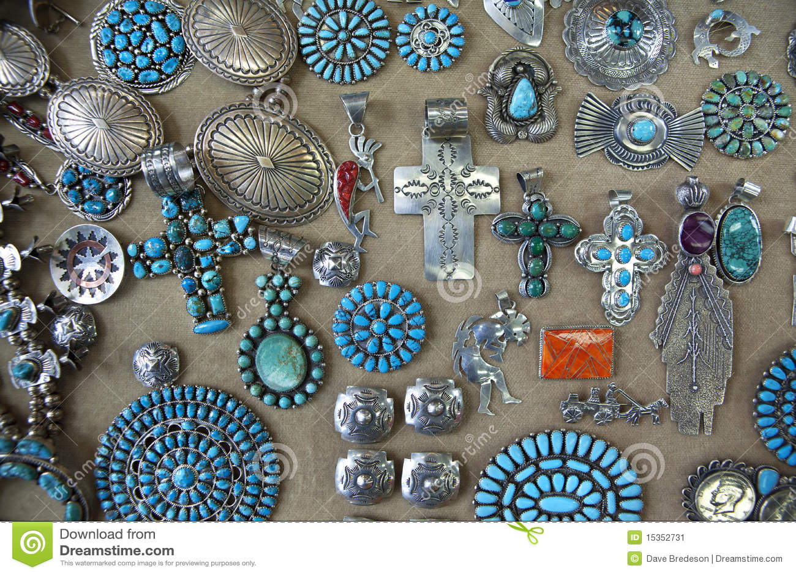 Navajo Indian Jewellery Stock Image Image 15352731