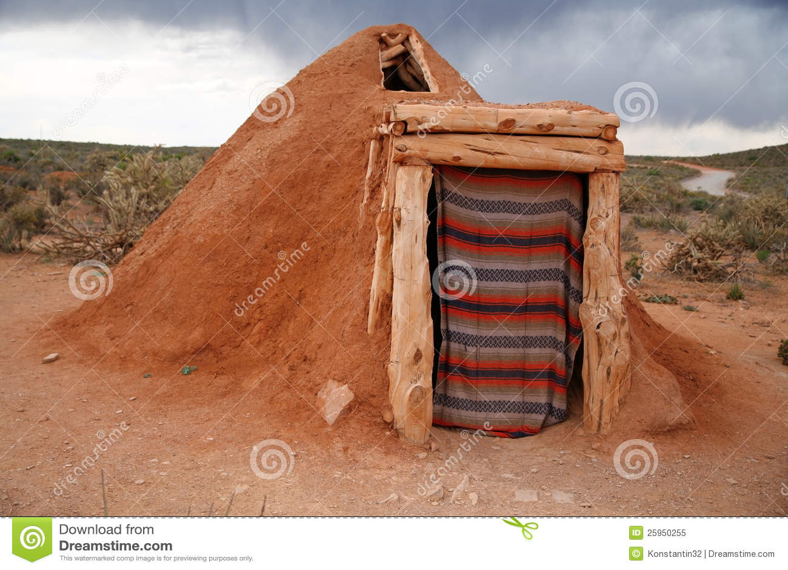 Navajo Native Indian House Stock Image Image Of Arizona