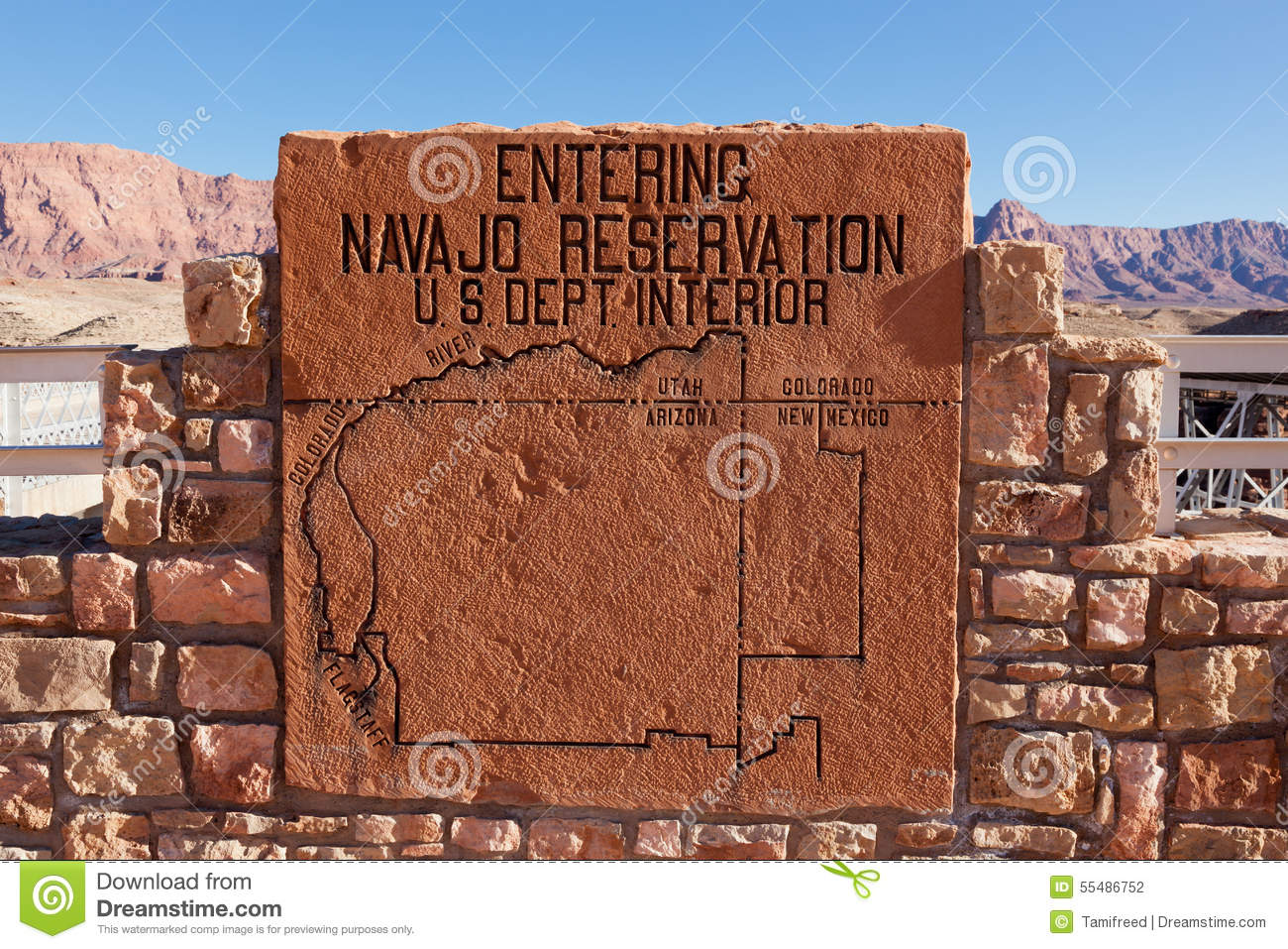 Navajo Reservation Arizona Map.Navajo Reservation Sign Editorial Photography Image Of Mexico