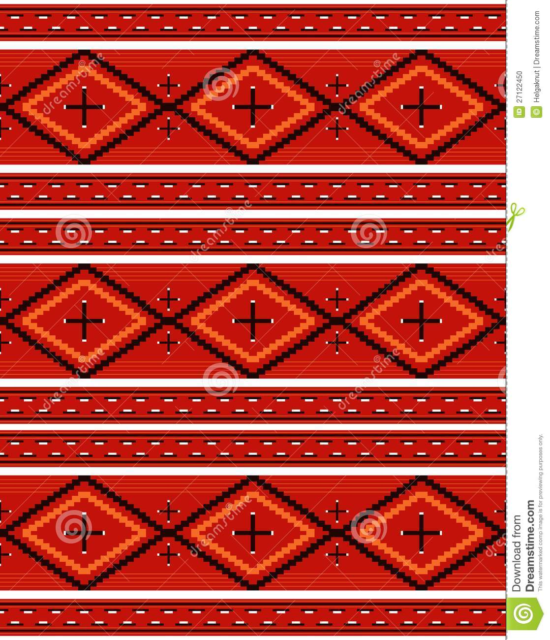 Navajo Textile Pattern Stock Vector Image Of Apache