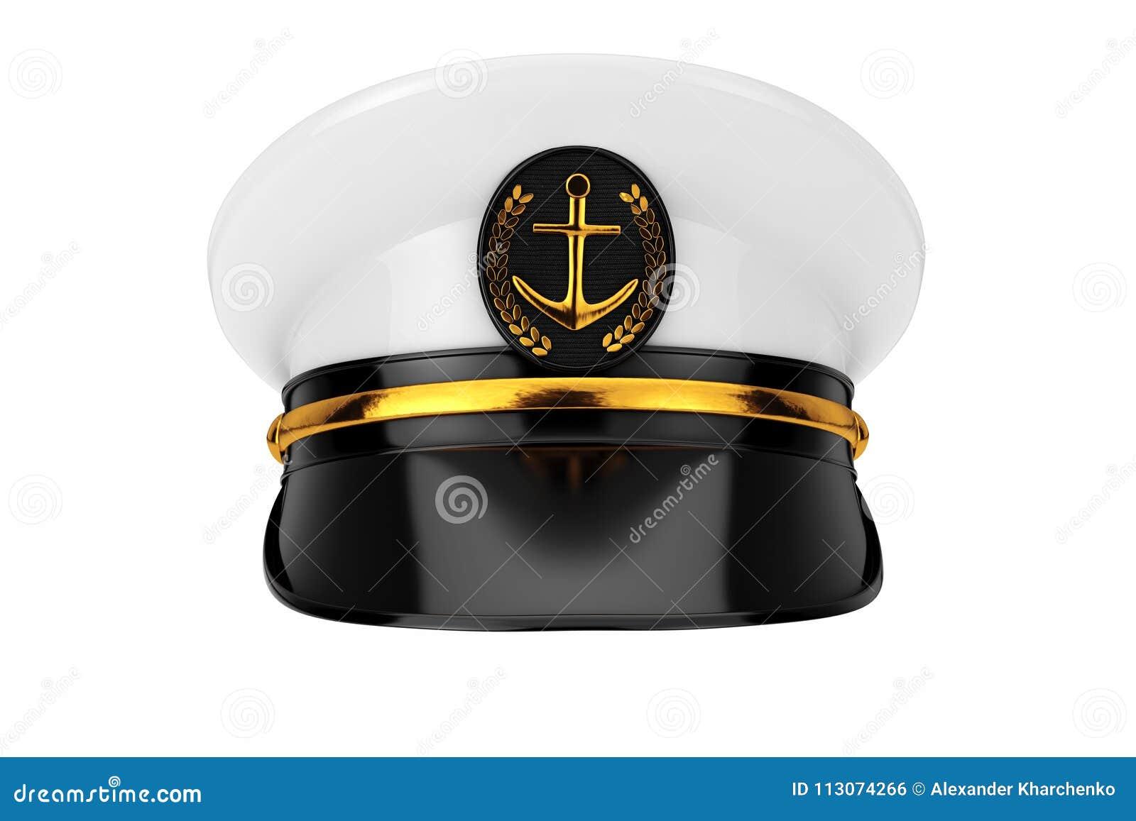 1fd93b73e Naval Officer, Admiral, Navy Ship Captain Hat. 3d Rendering Stock ...