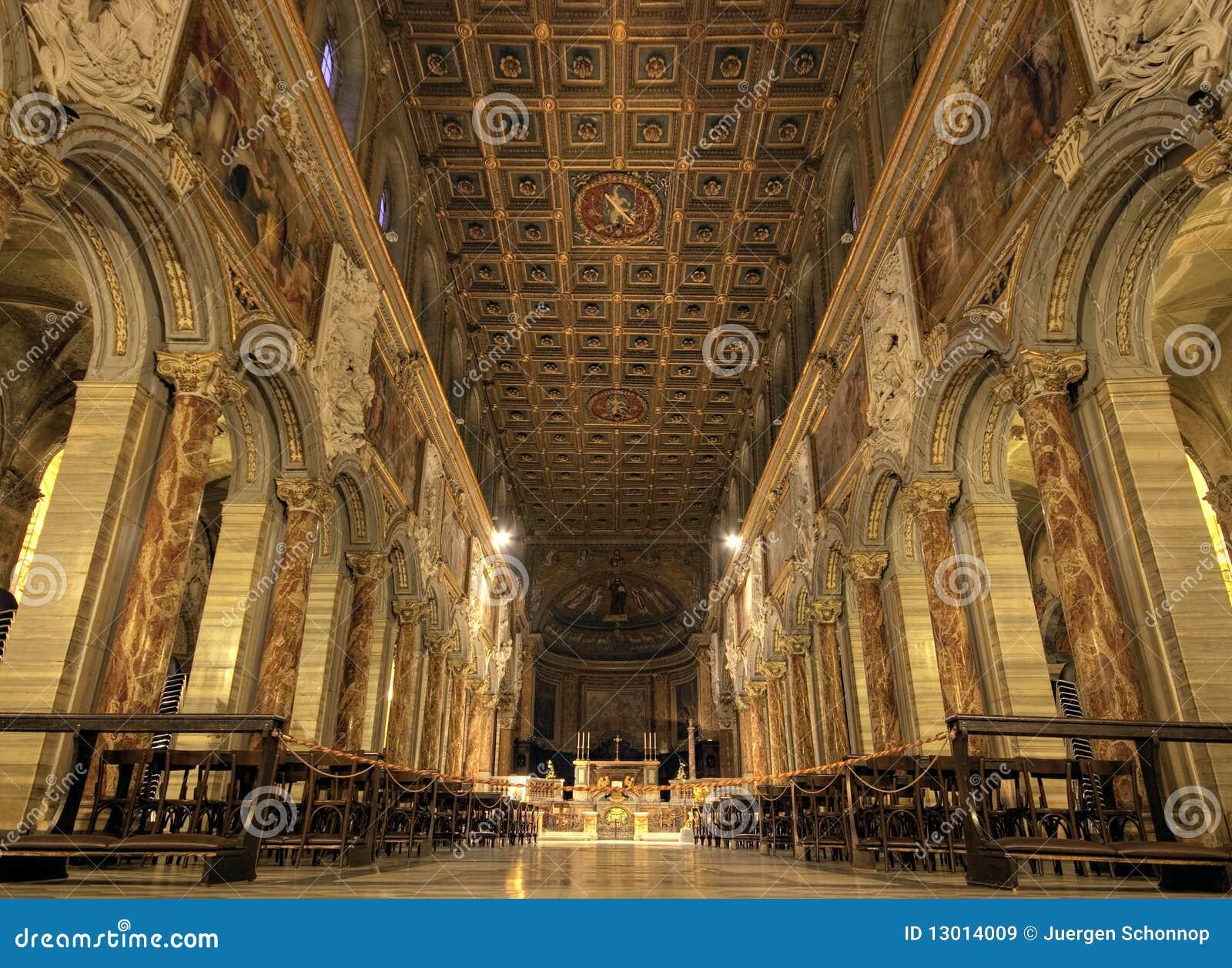 Nave Della Basilica Del San Marco Roma Immagine Stock